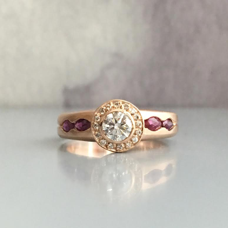 channel set ruby halo ring