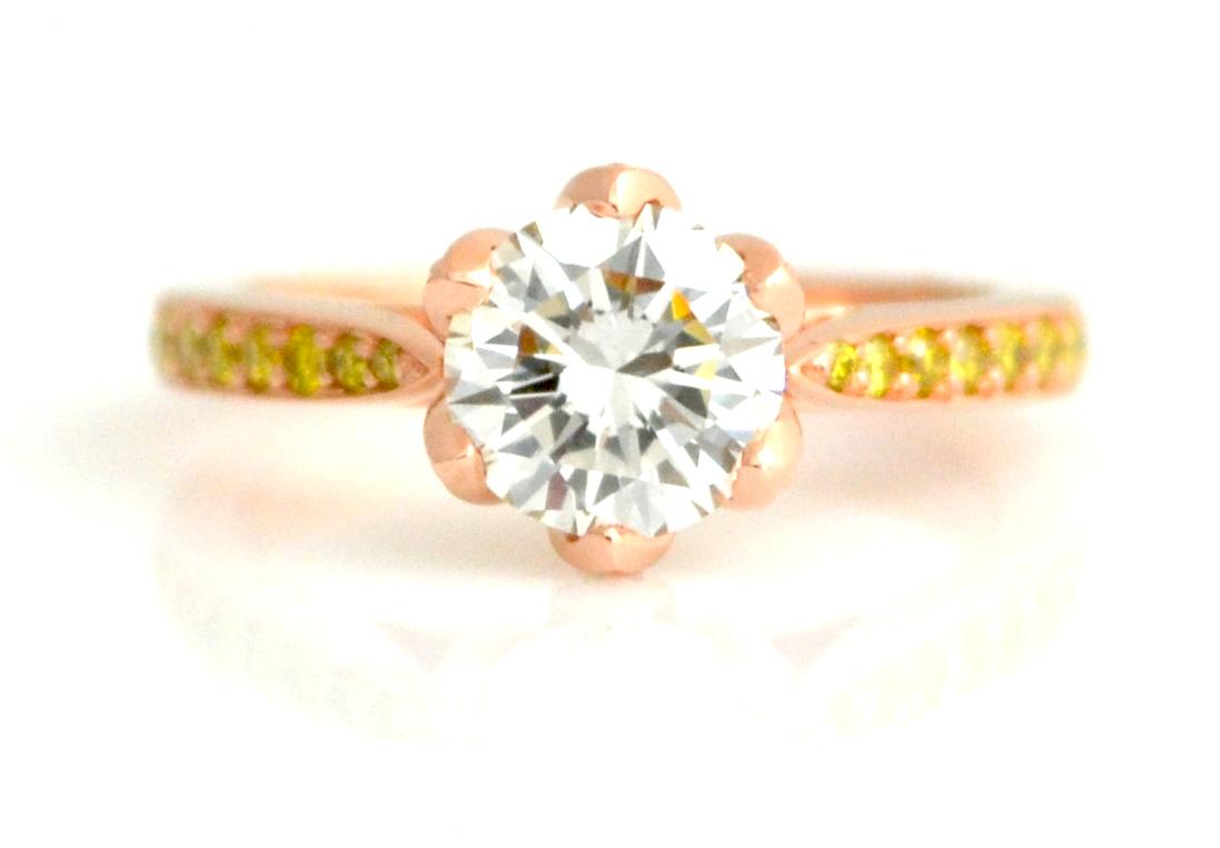 Sunset flower ring