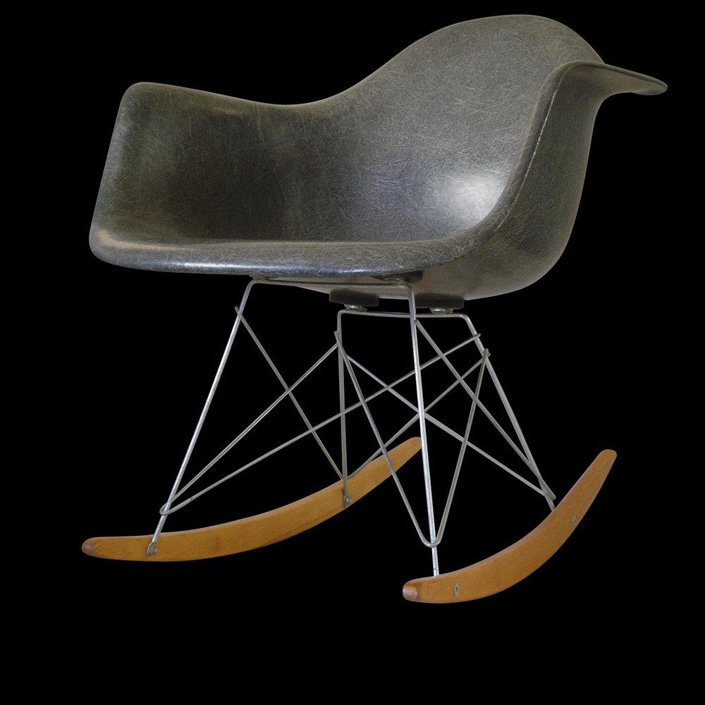 Charles Eames Herman Miller 1949 Prototype Rocking Chair Radiascence
