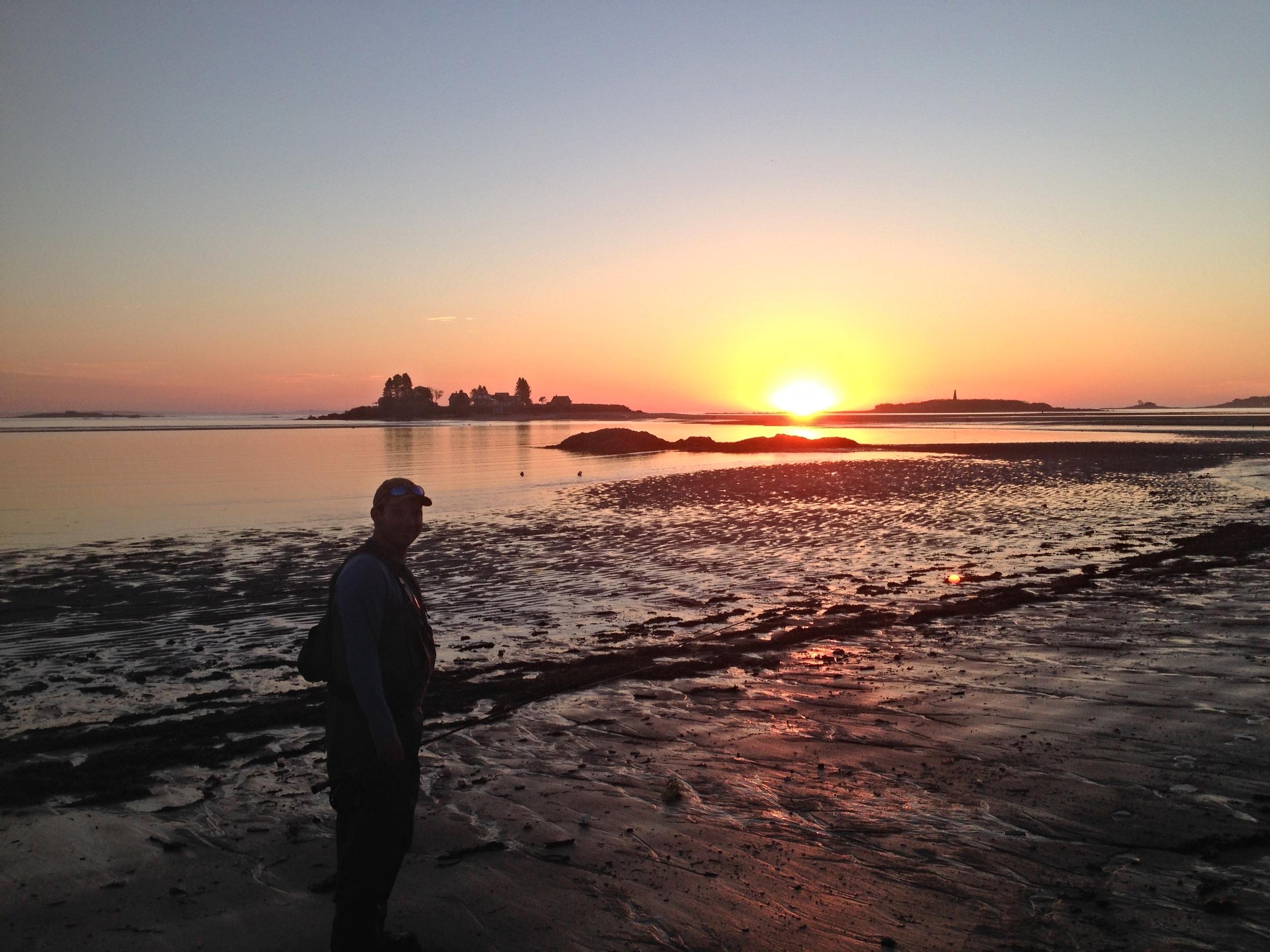 Sunrise on the coast of Maine.
