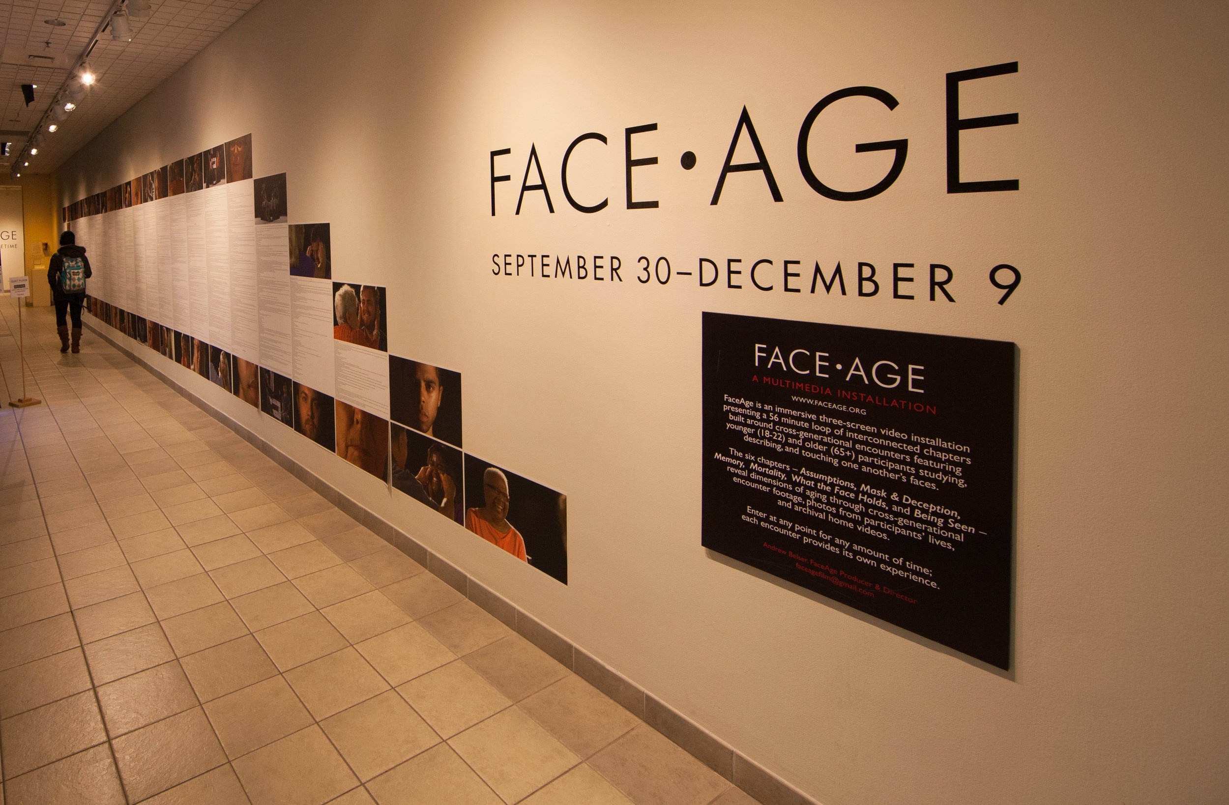 the entire FaceAge transcript is part of the exhibition