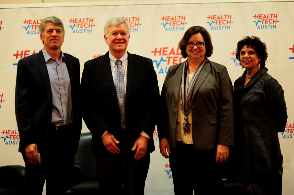 From left to right: Clay Johnston, M.D., Marschall Runge, M.D., Susan Skochelak, M.D., and Mary Ann Roser, Moderator.