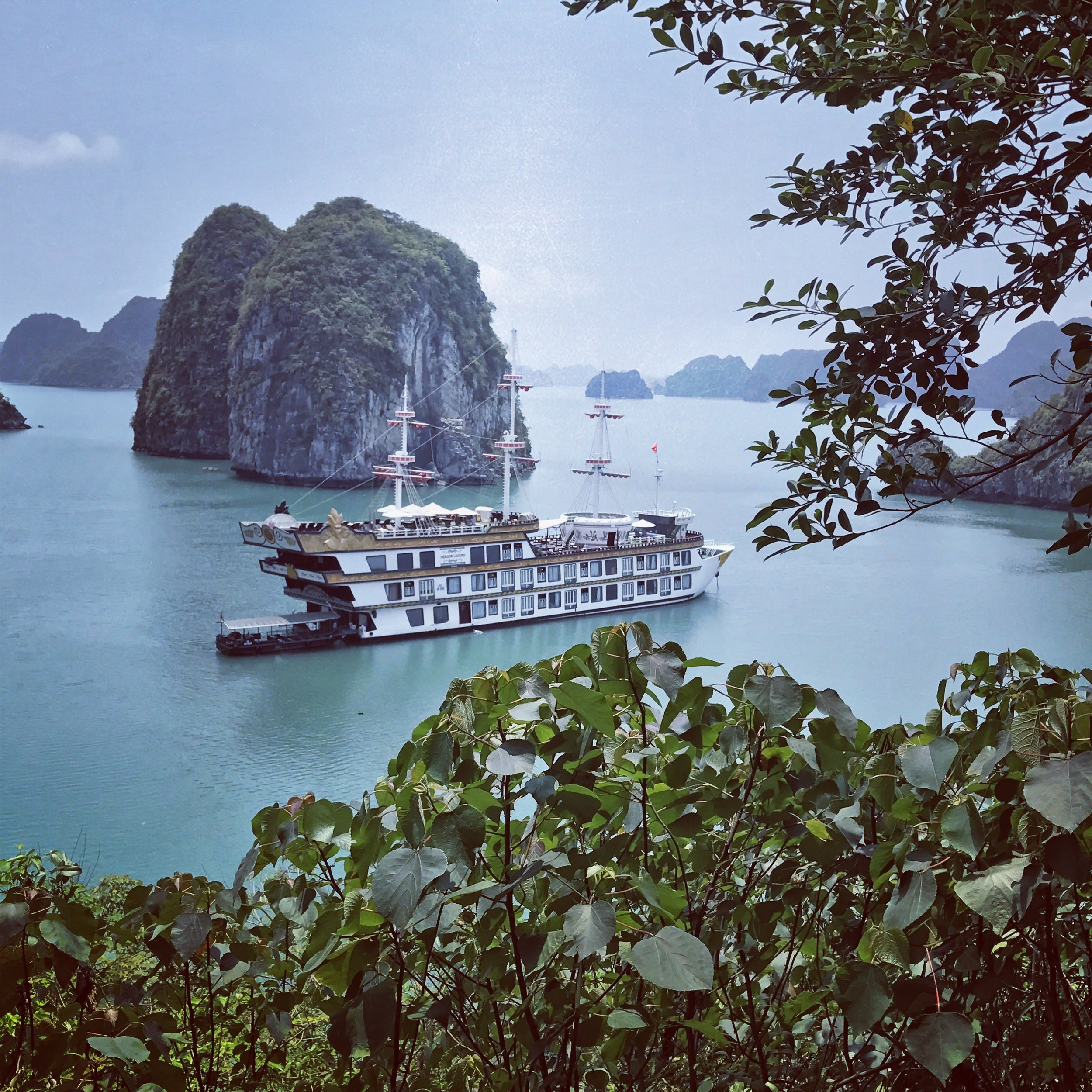 View of our boat in Halong Bay