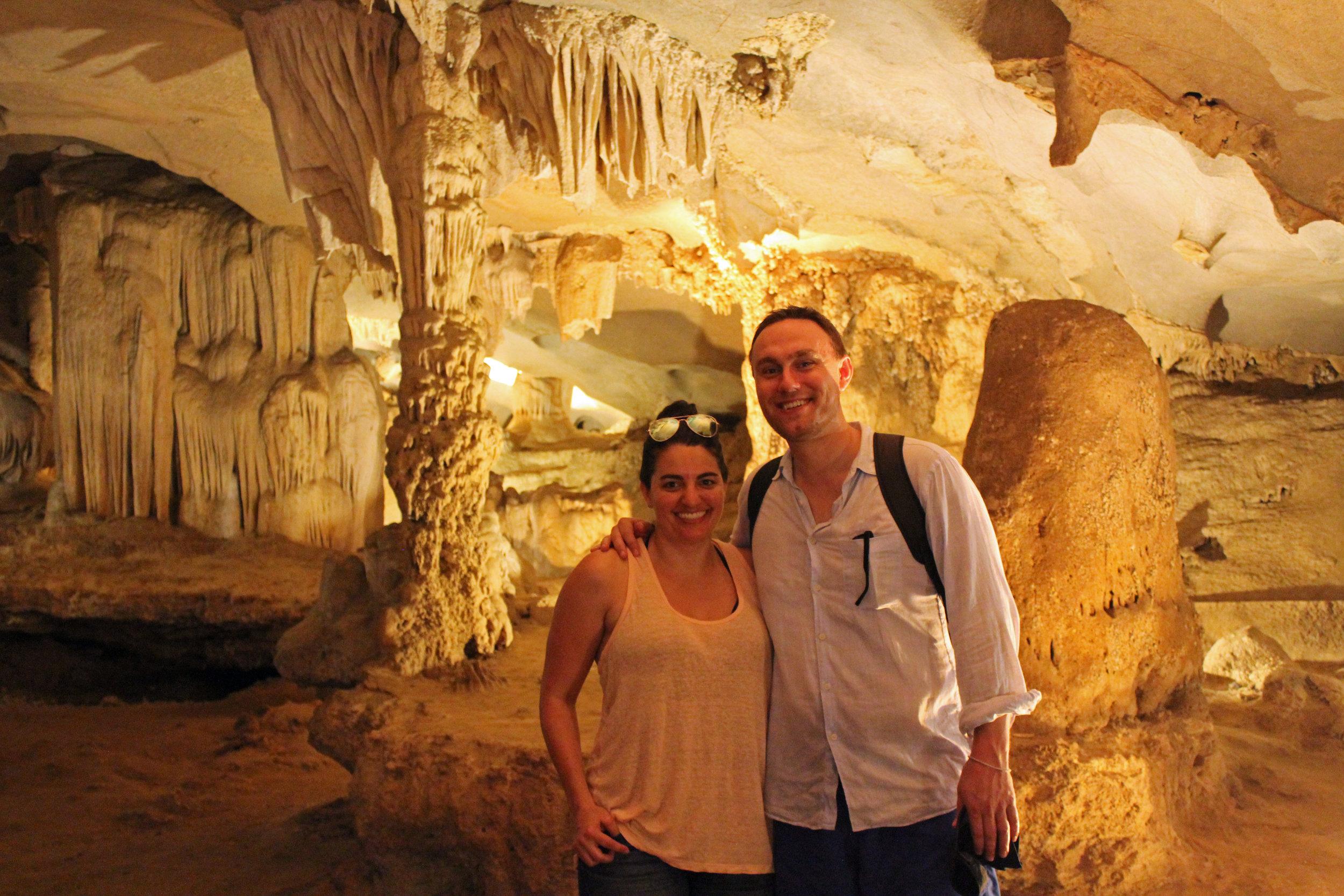 Nicole and I in Paradise Cave in Phong Nha-Ke Bang national park