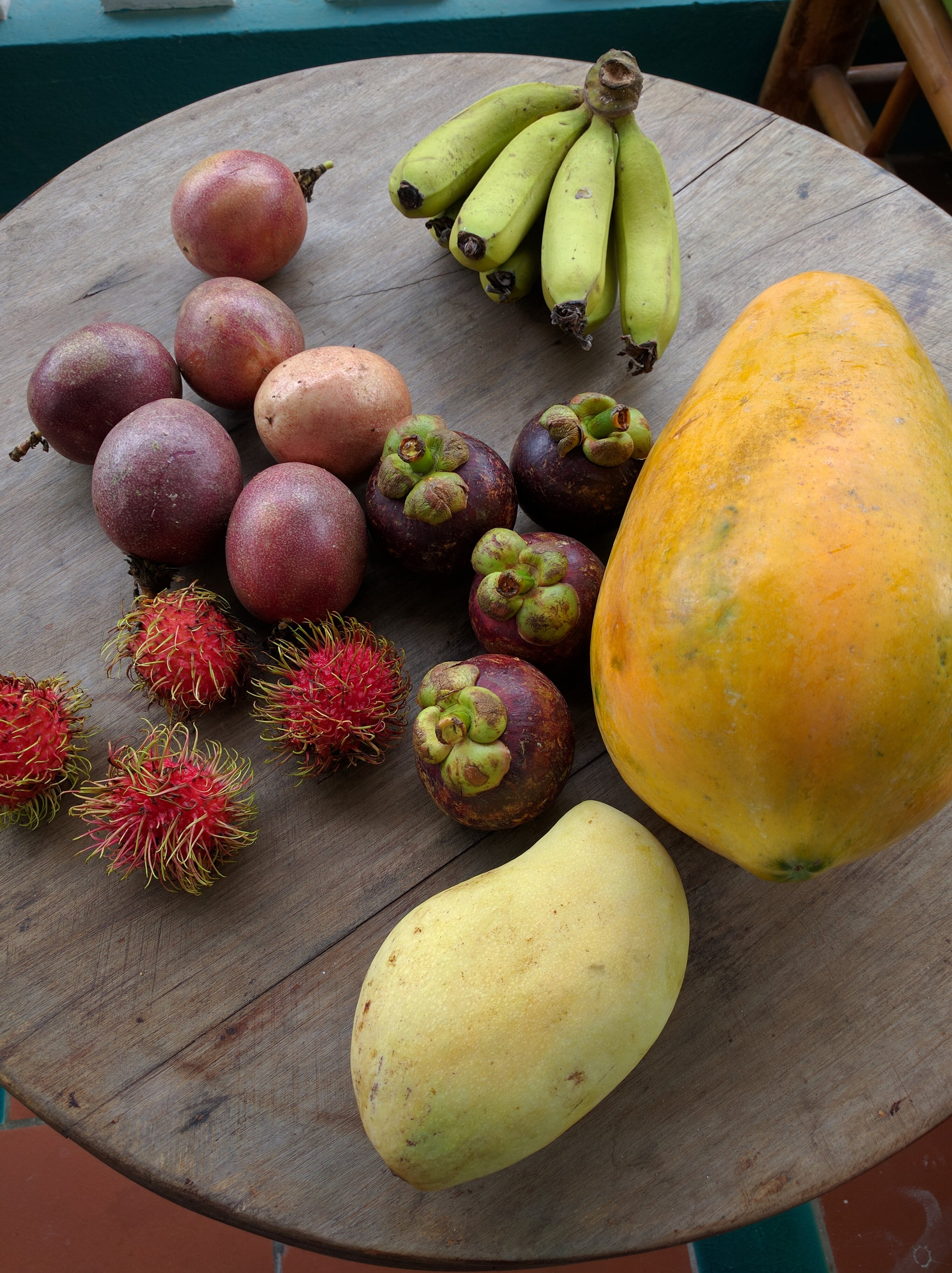 Our assortment of fruit from the An Bang food market