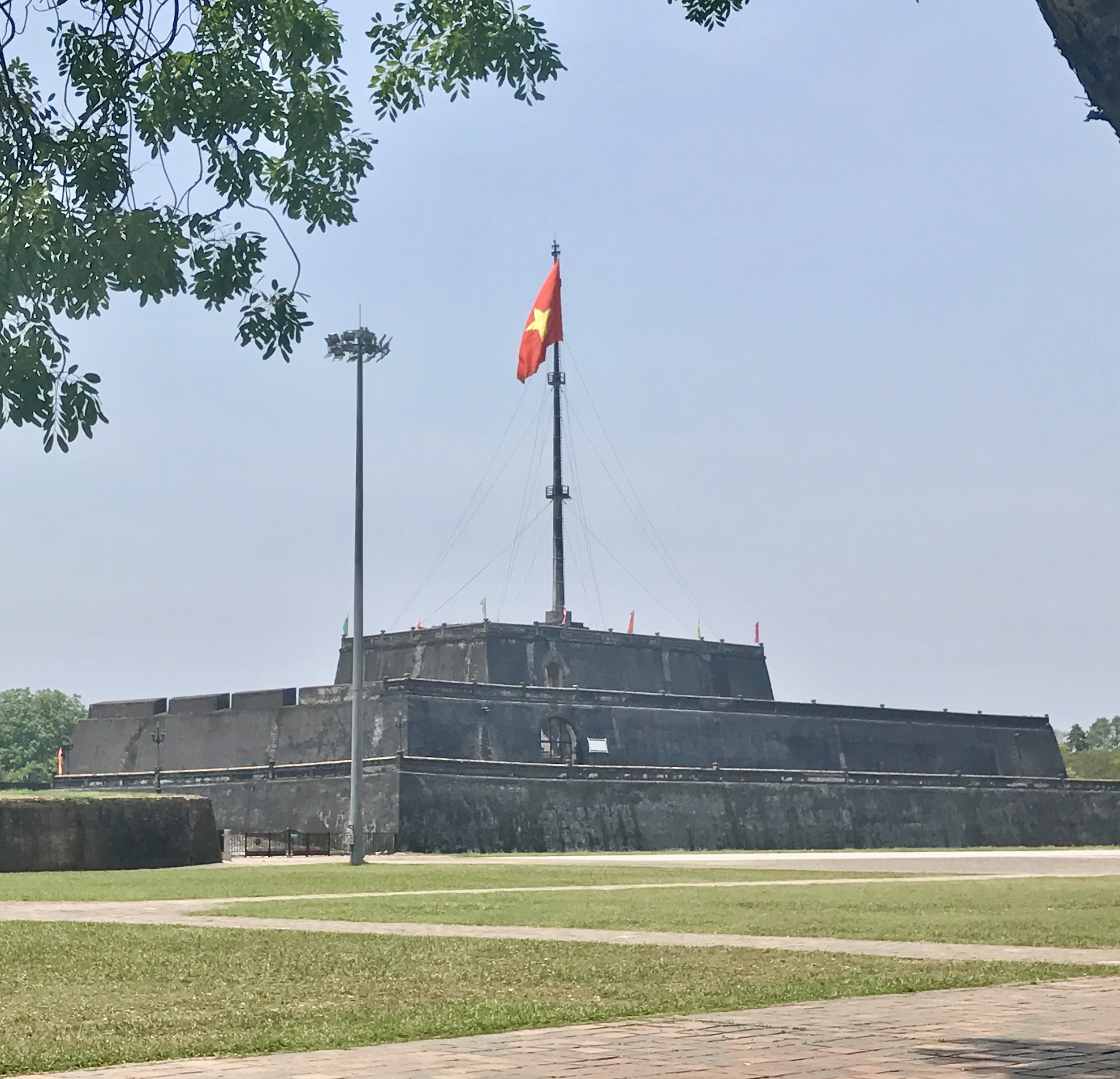Flag flying in the citadel near the imperial city in Hue