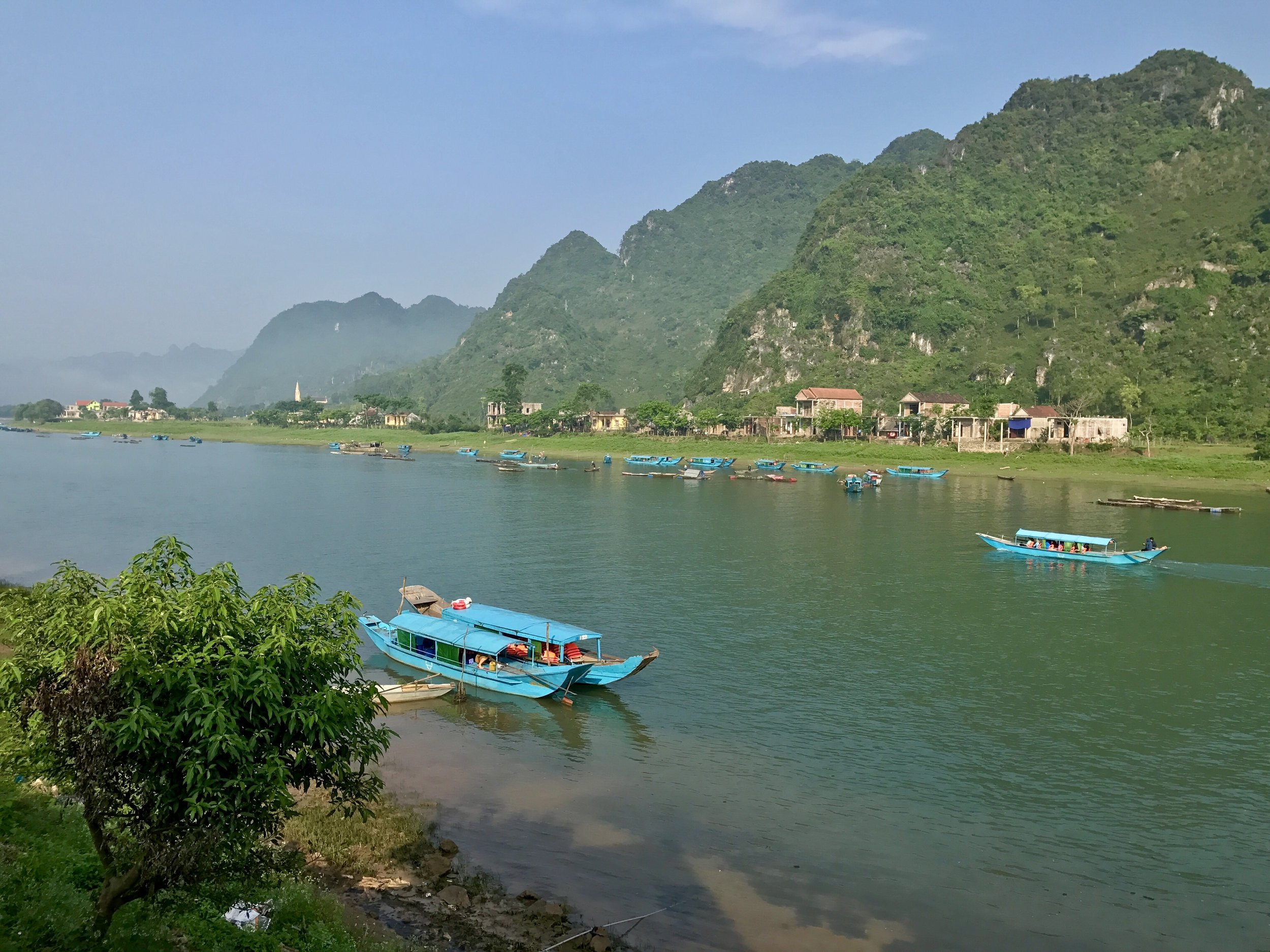 View from the Phong Nha Coco House where we stayed