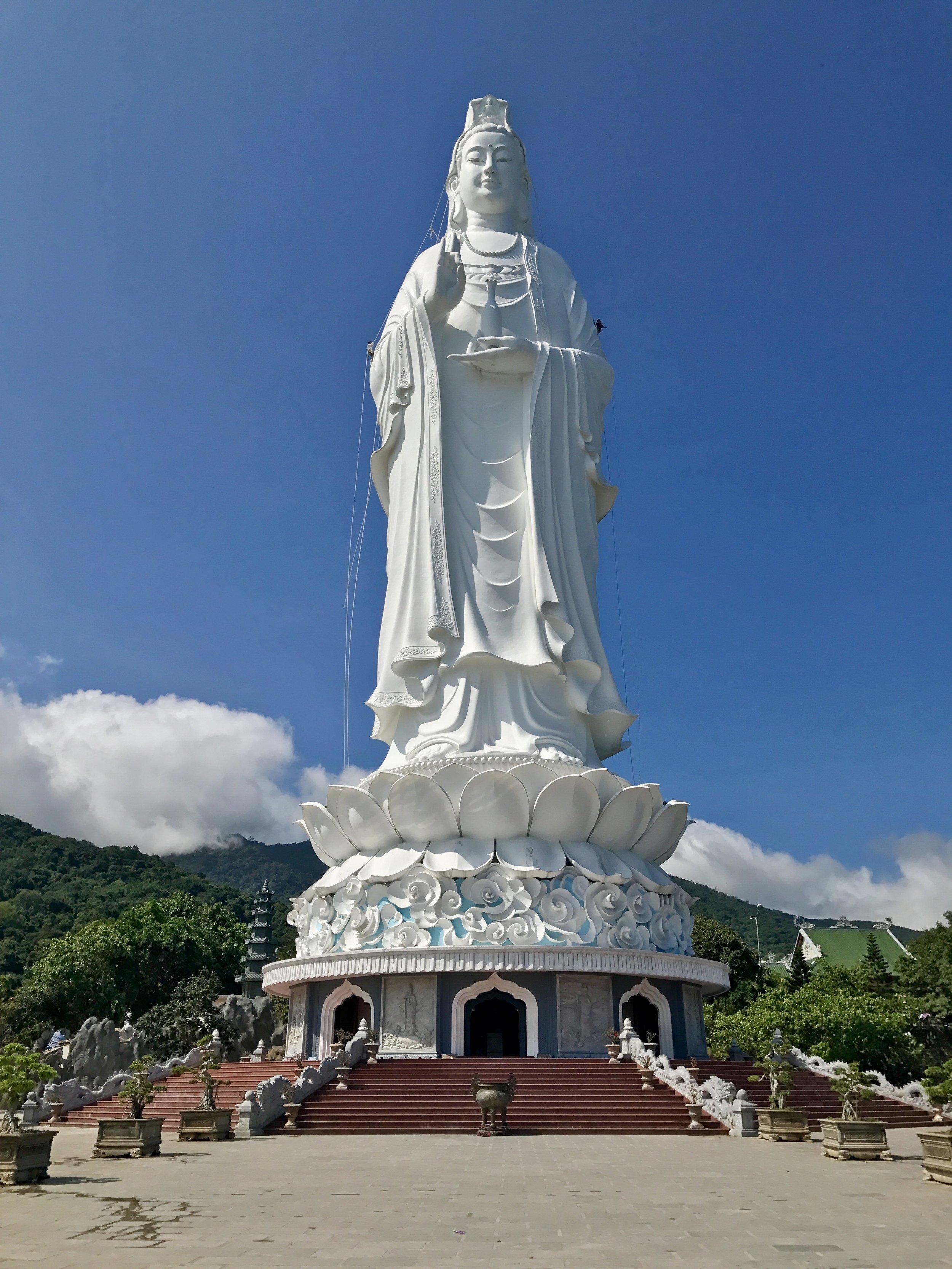 The Lady Buddha statute that overlooks Da Nang
