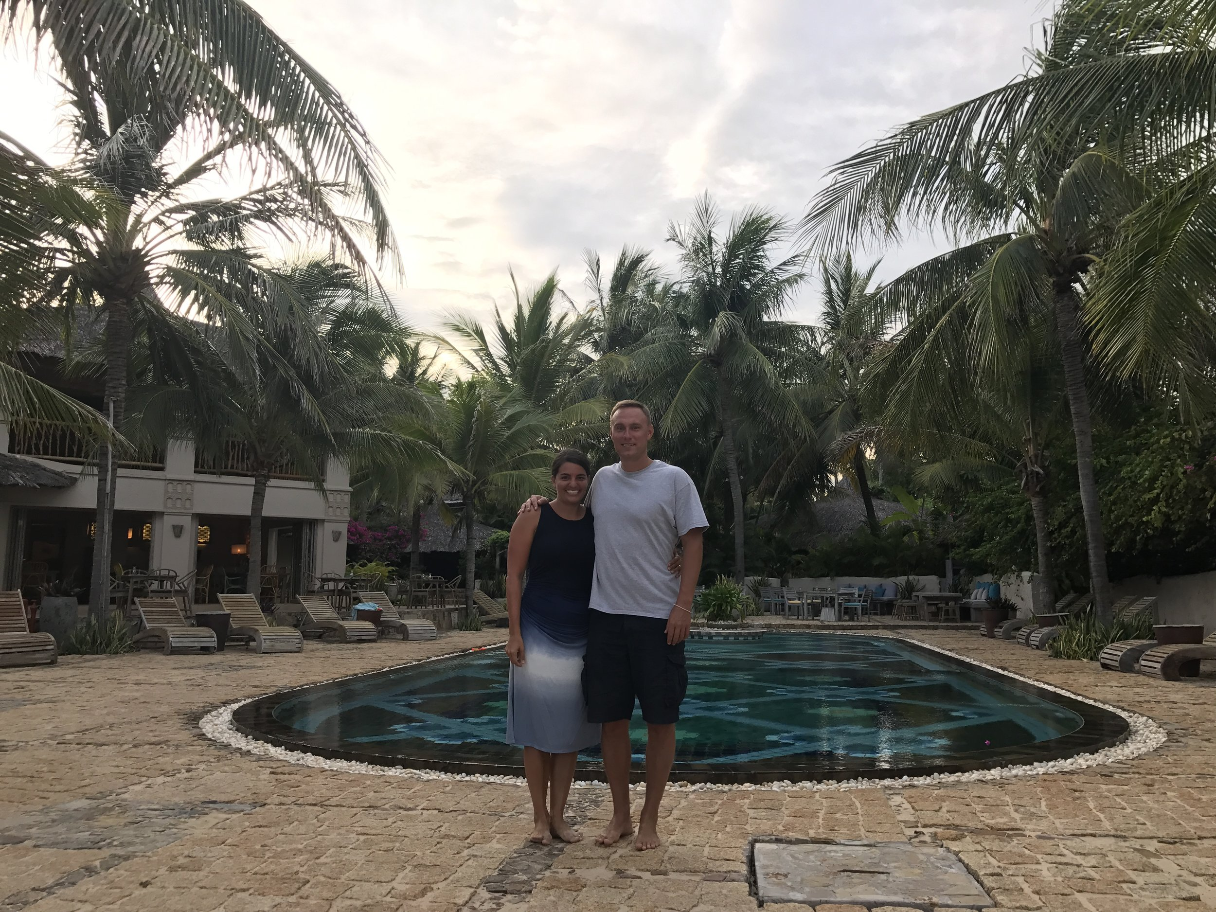 The pool area of our Mui Ne resort