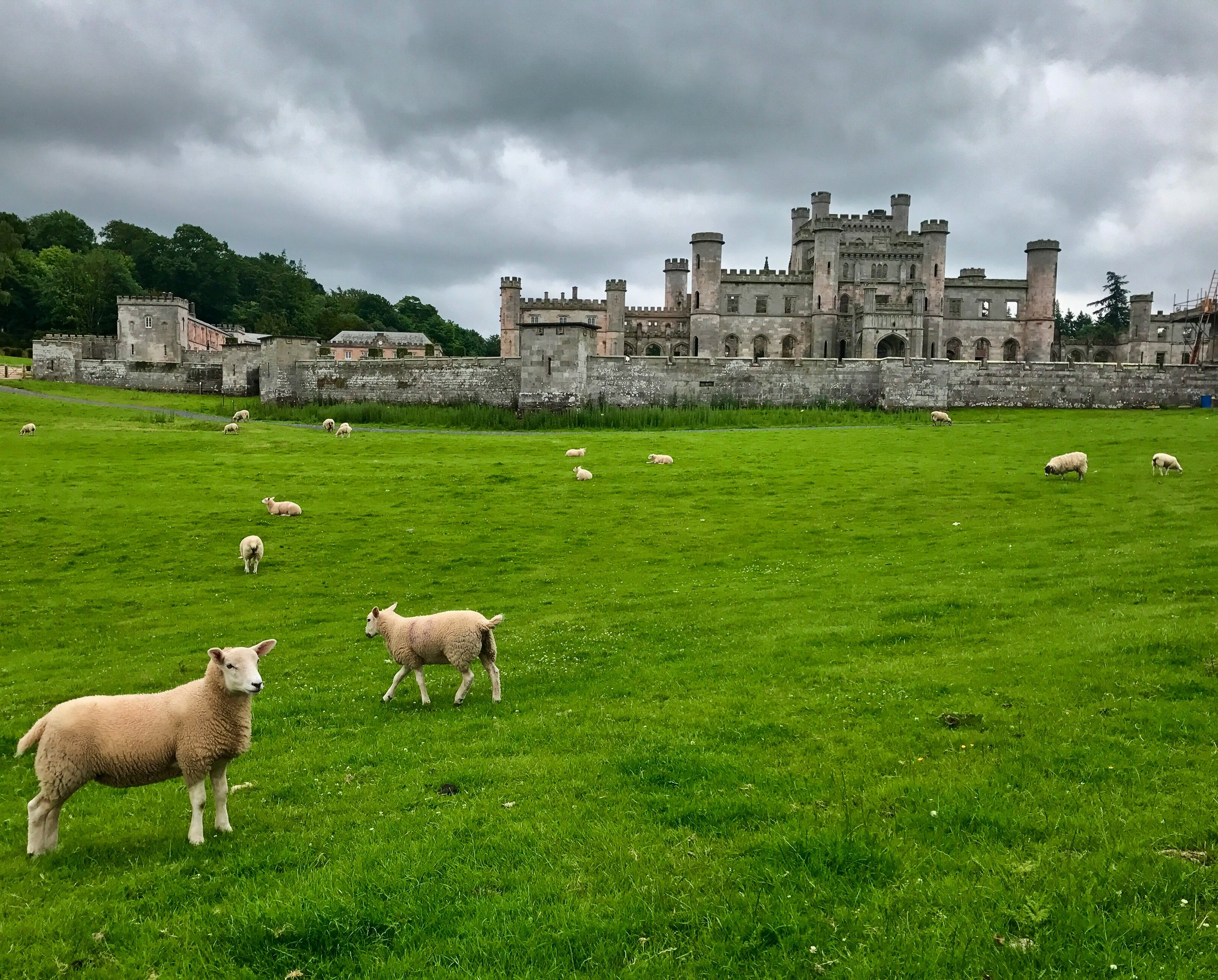 Lowther Castle, a few miles from the wedding venue