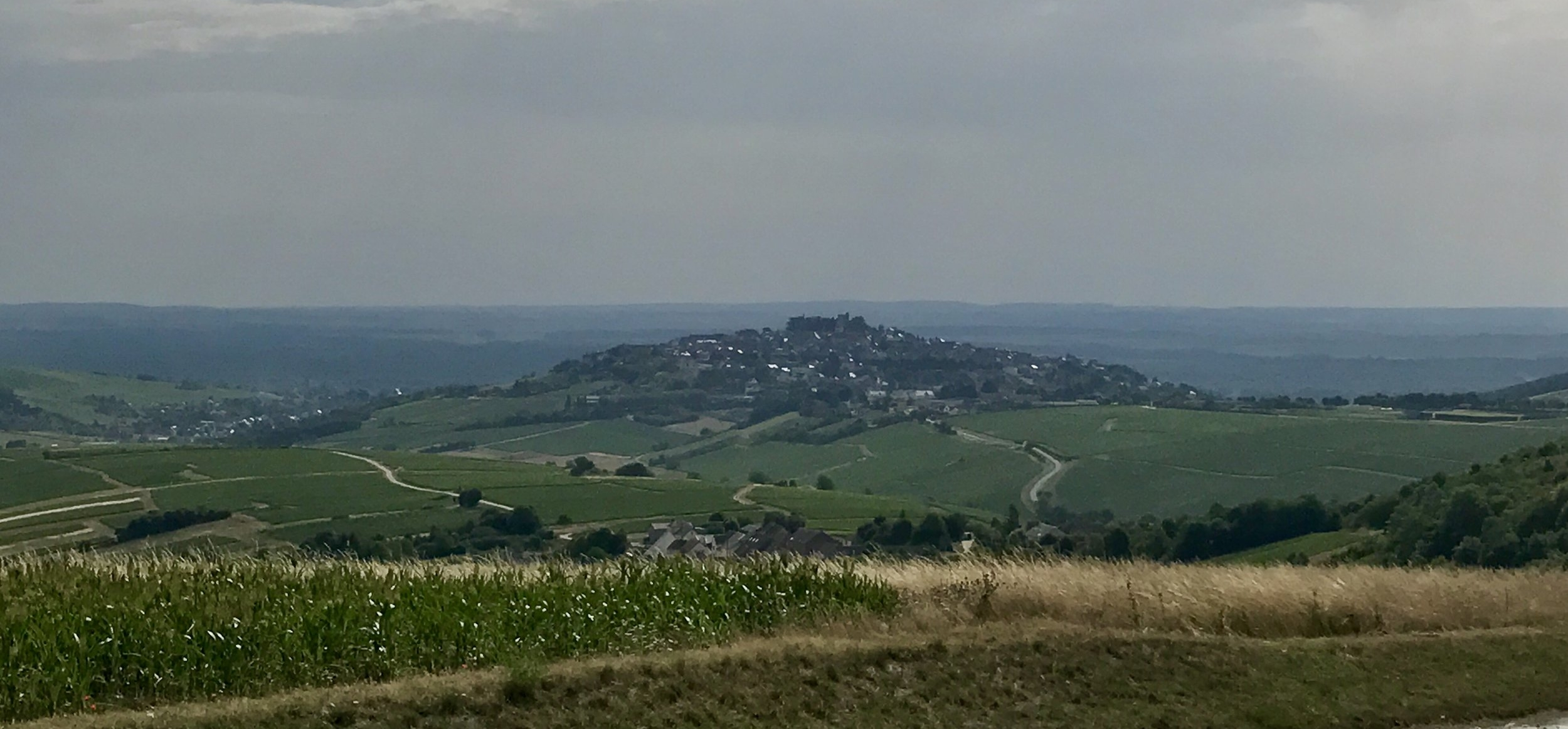 Looking across the valley at Sancerre