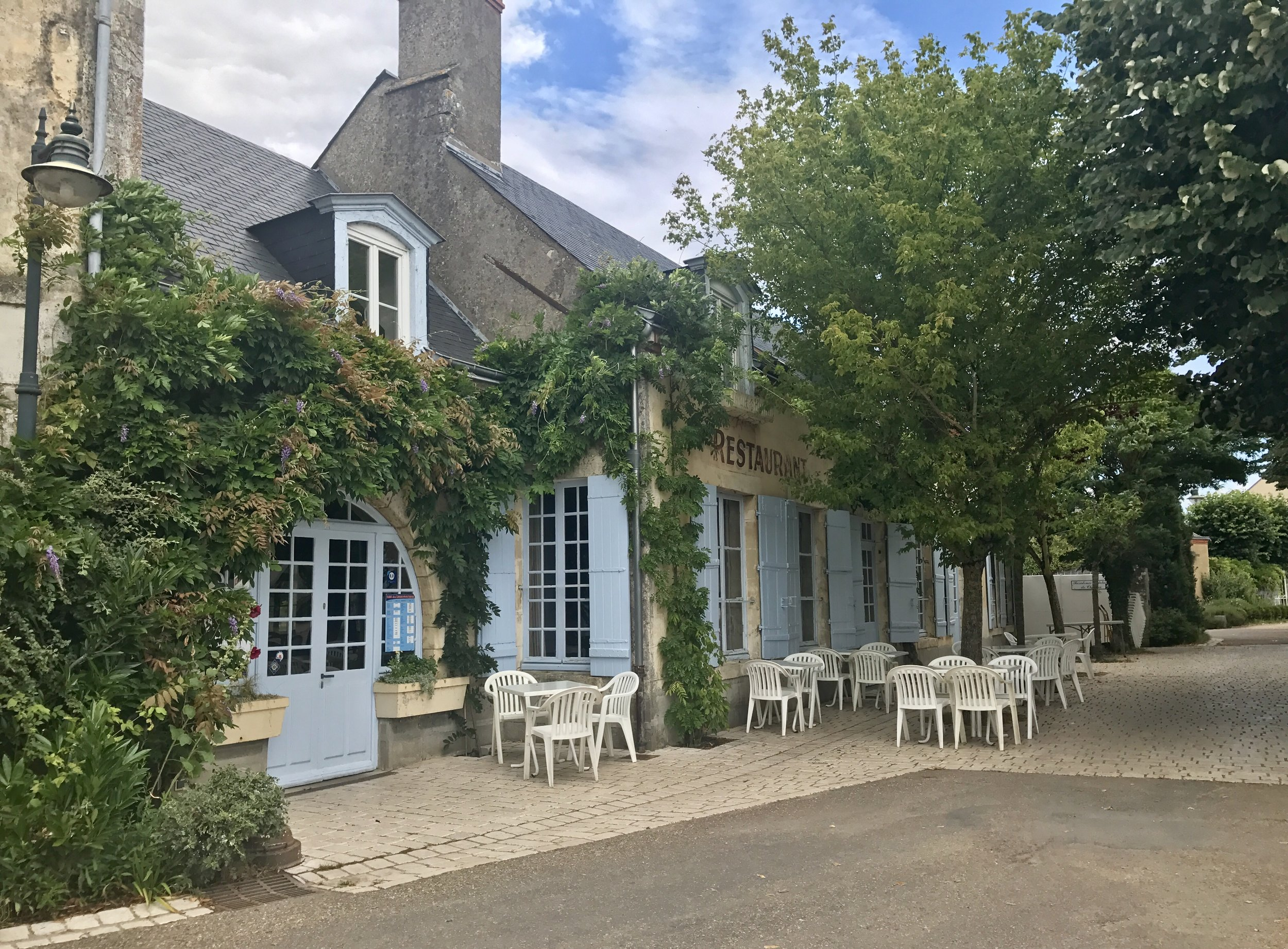 La Marine restaurant in Combleux, the location of our Airbnb
