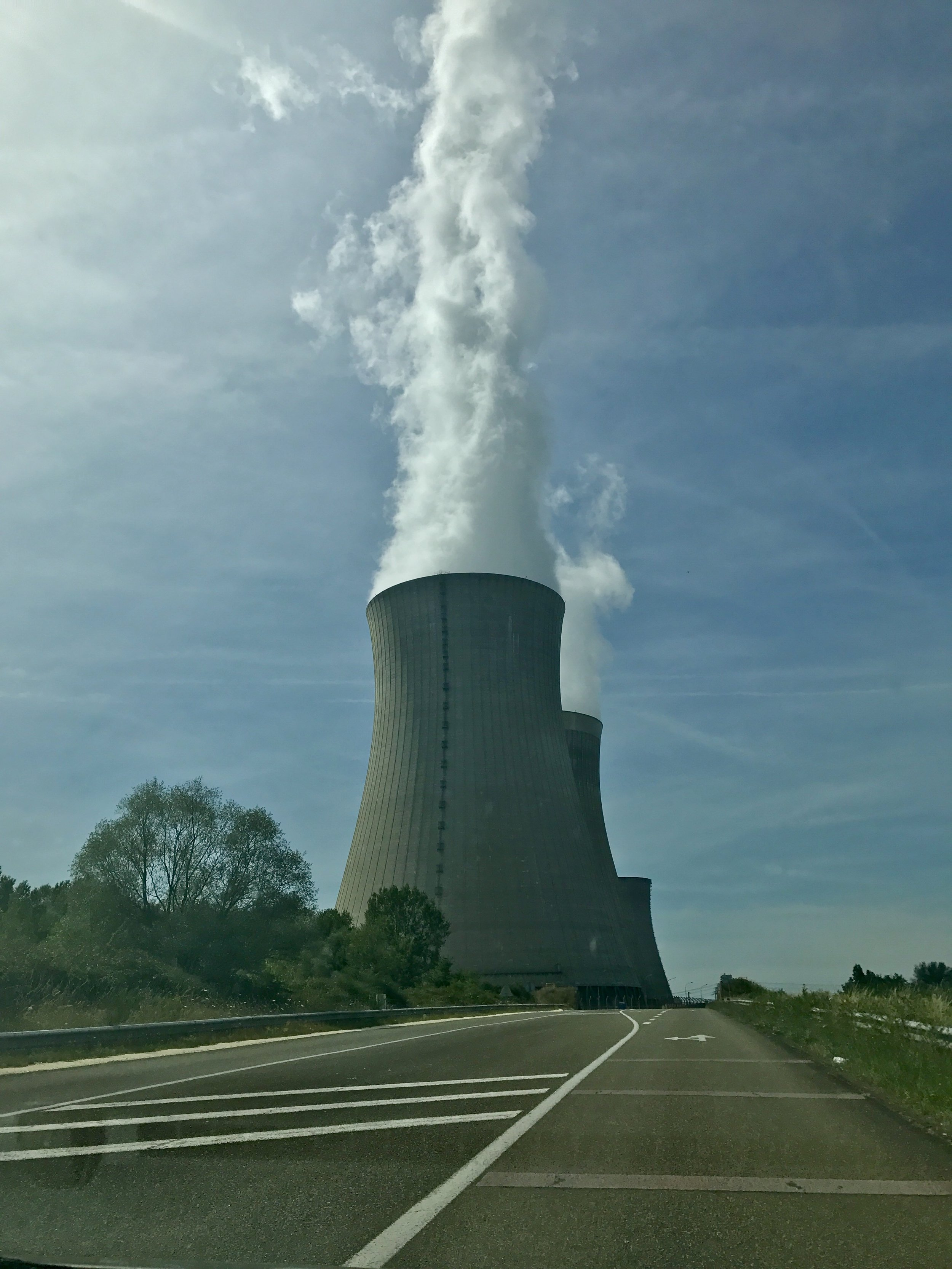 Driving by one of France's 58 nuclear power plants