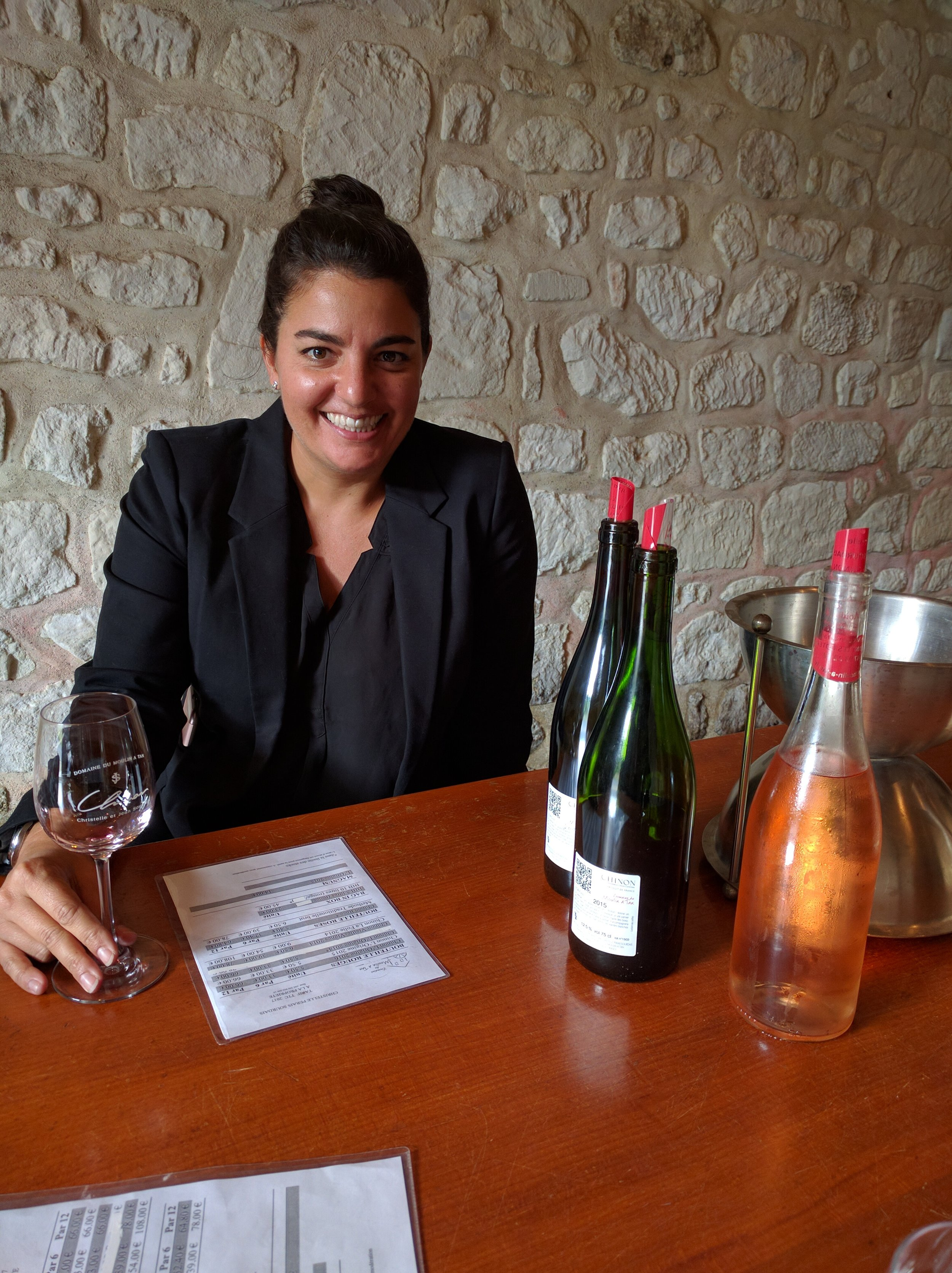 Tasting at Domaine Pierre Sourdais