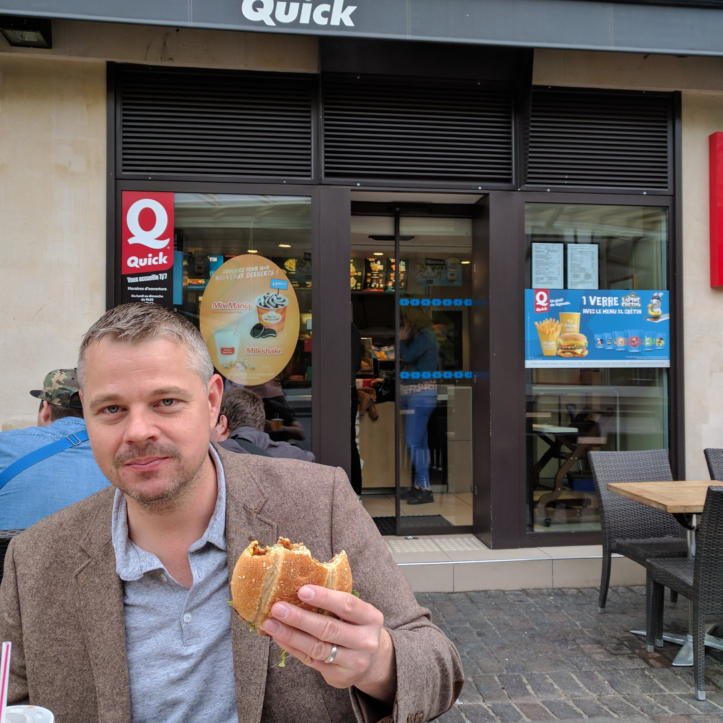 ....while at the same time, Paul and I were eating Quick Burgers.