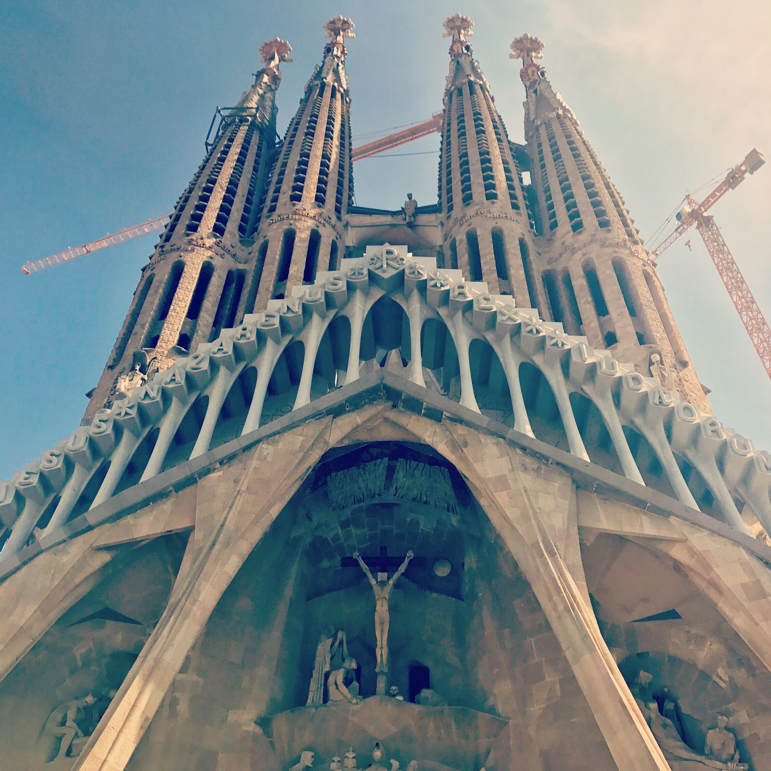 The Segrada Familia church; Construction has been ongoing since 1882 and is scheduled to be complete in 2026; It was fun to see the improvements since we last visited Barcelona approximately five years ago