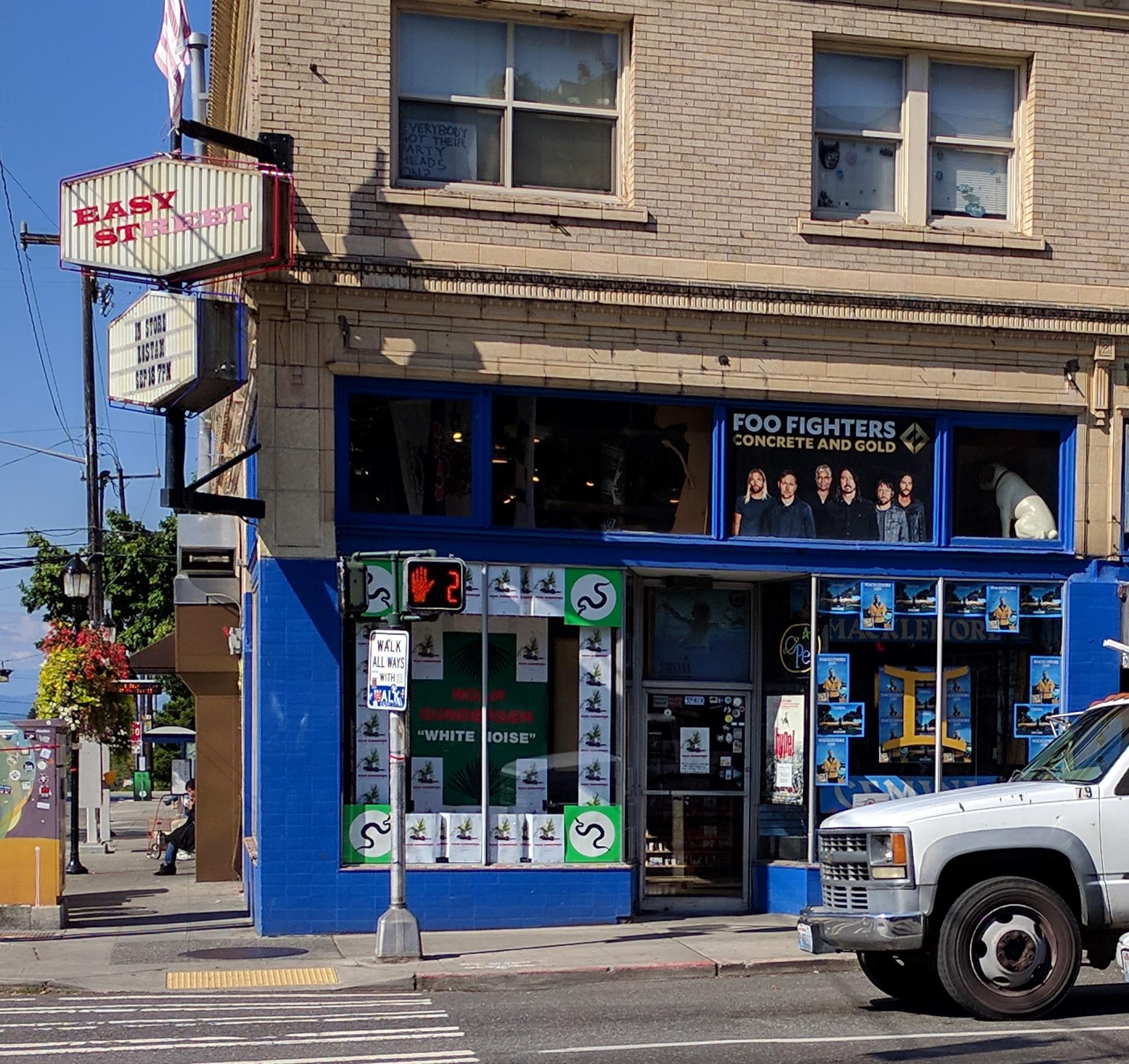 Outside Easy Street Records in Seattle, Washington