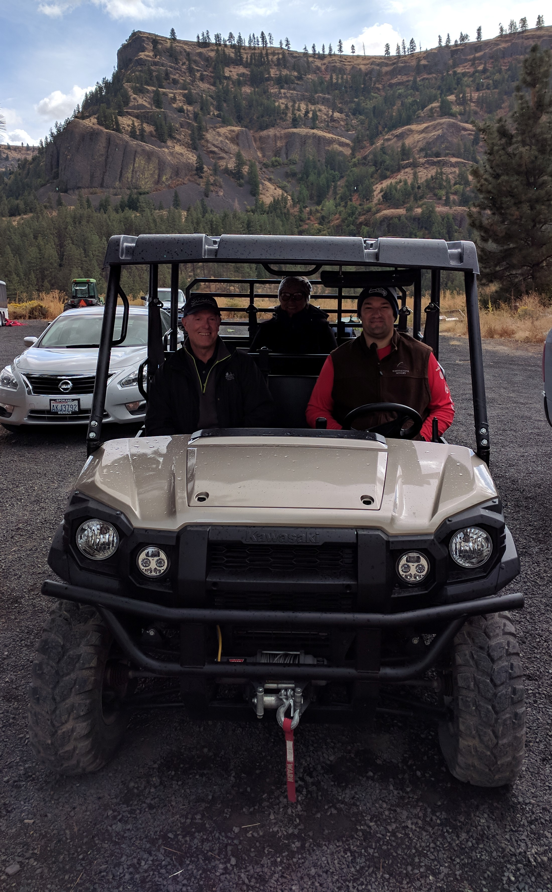 My parents and Michael going for a ride