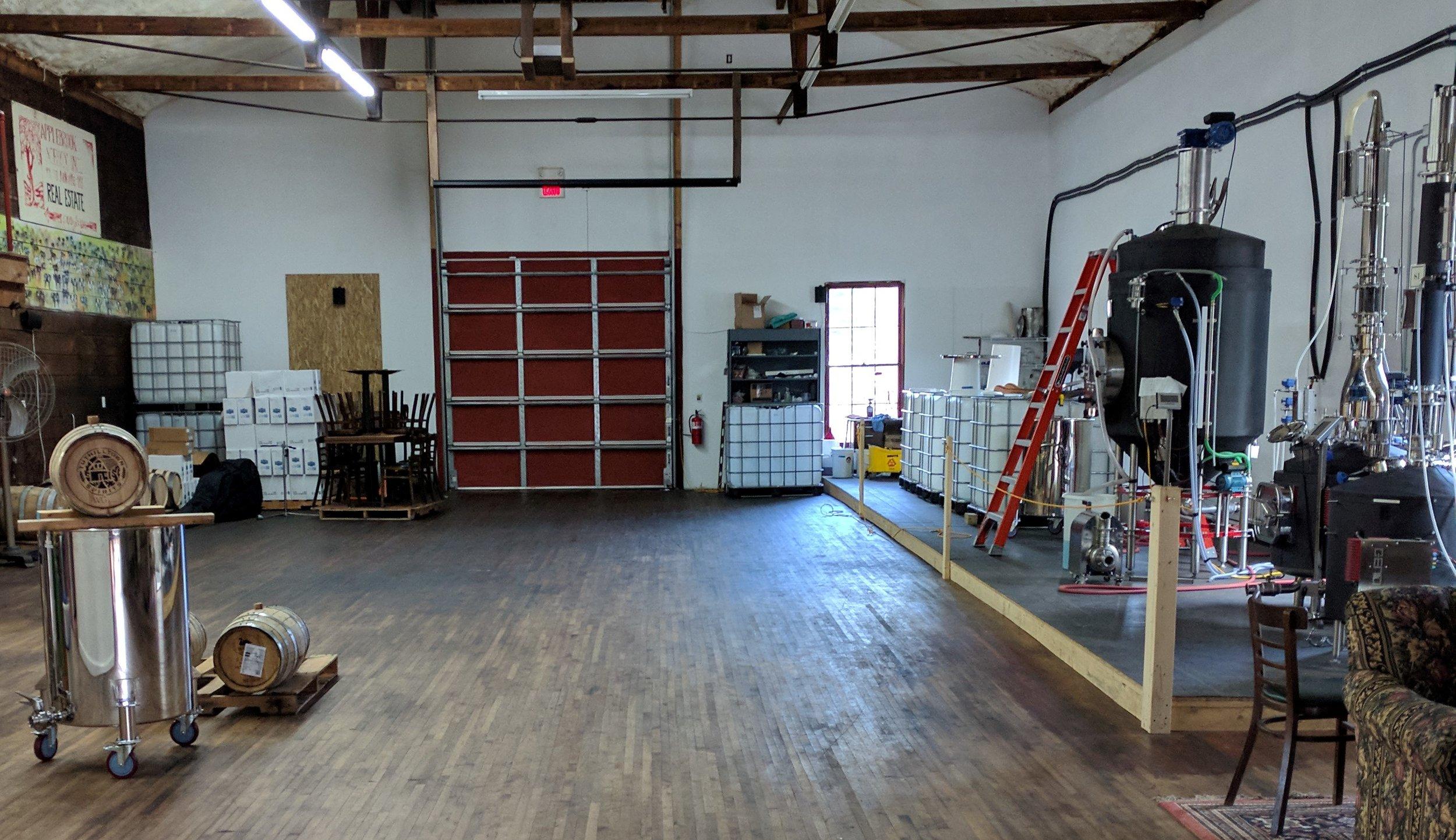 Peering into the distillery room