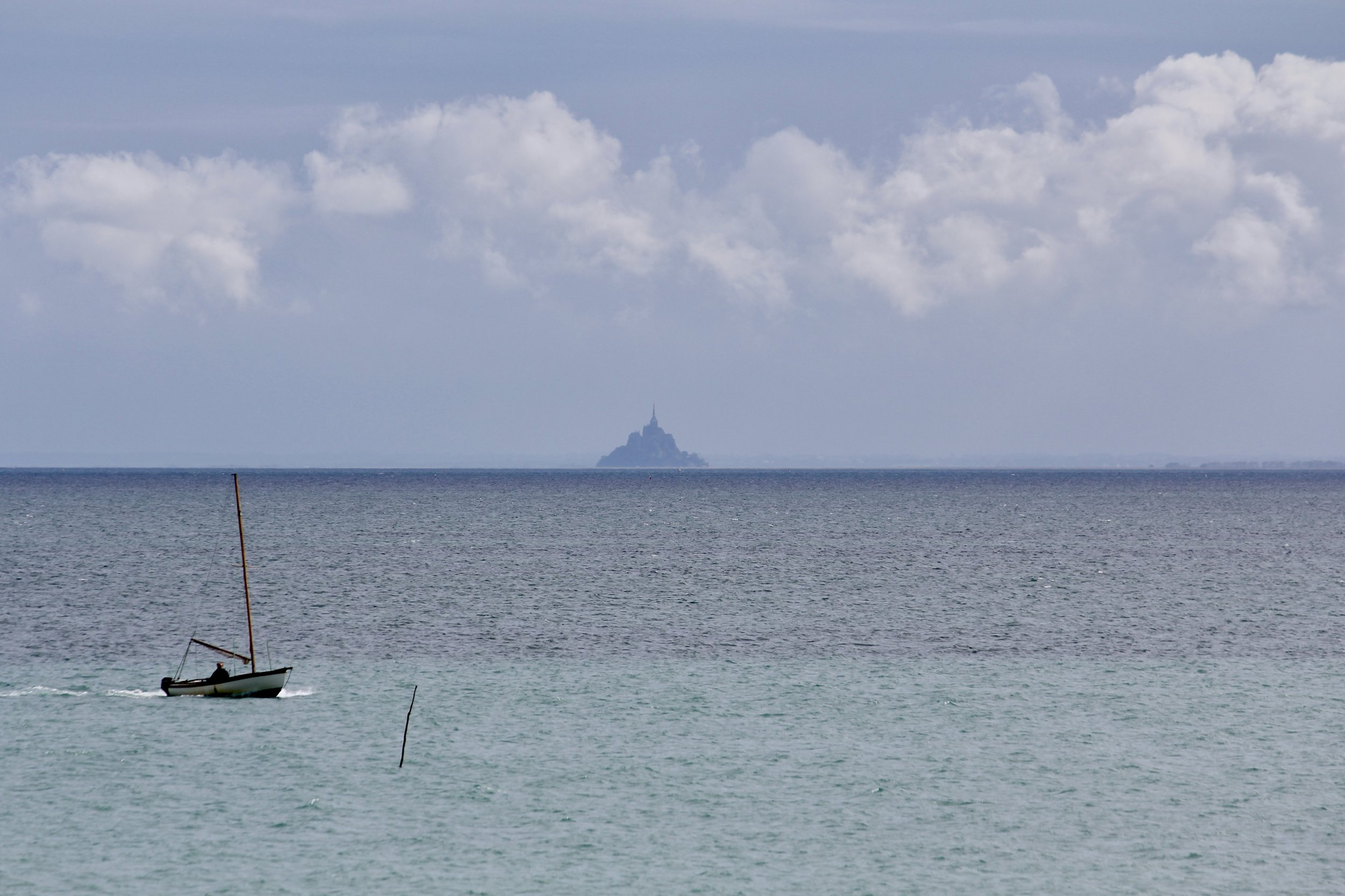View of Mont St Michele from Cancale