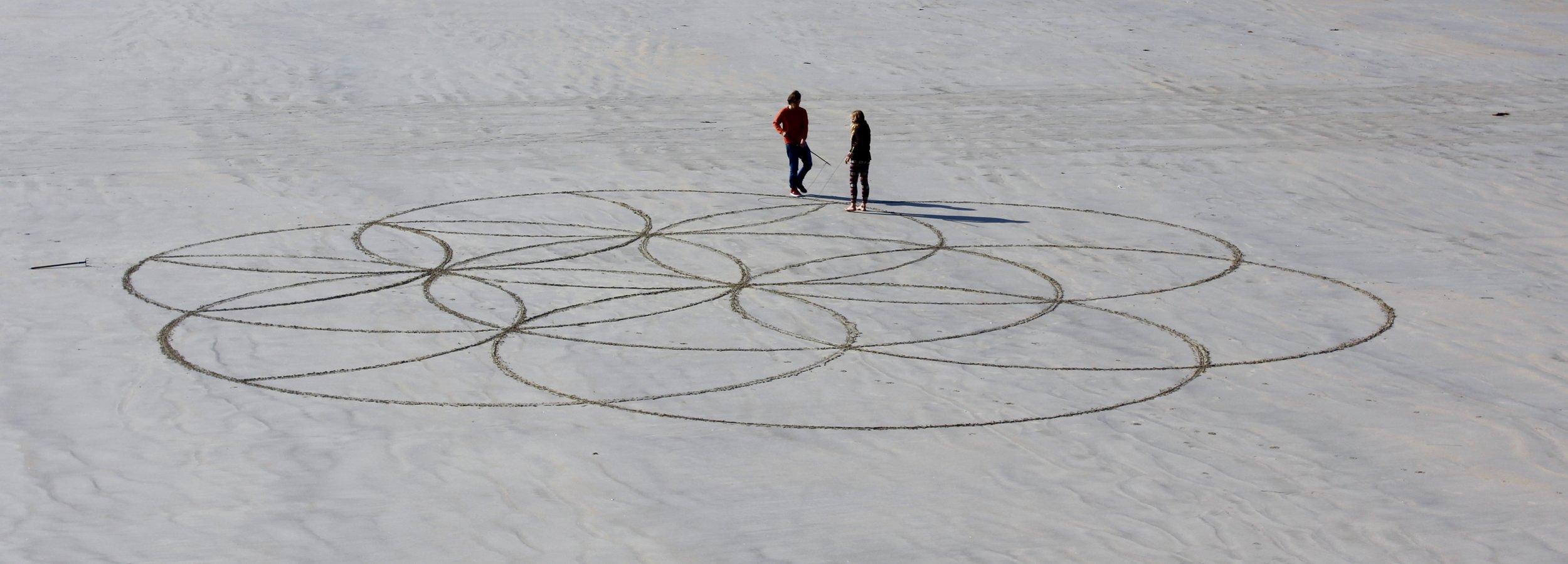 Beach art in Dinard