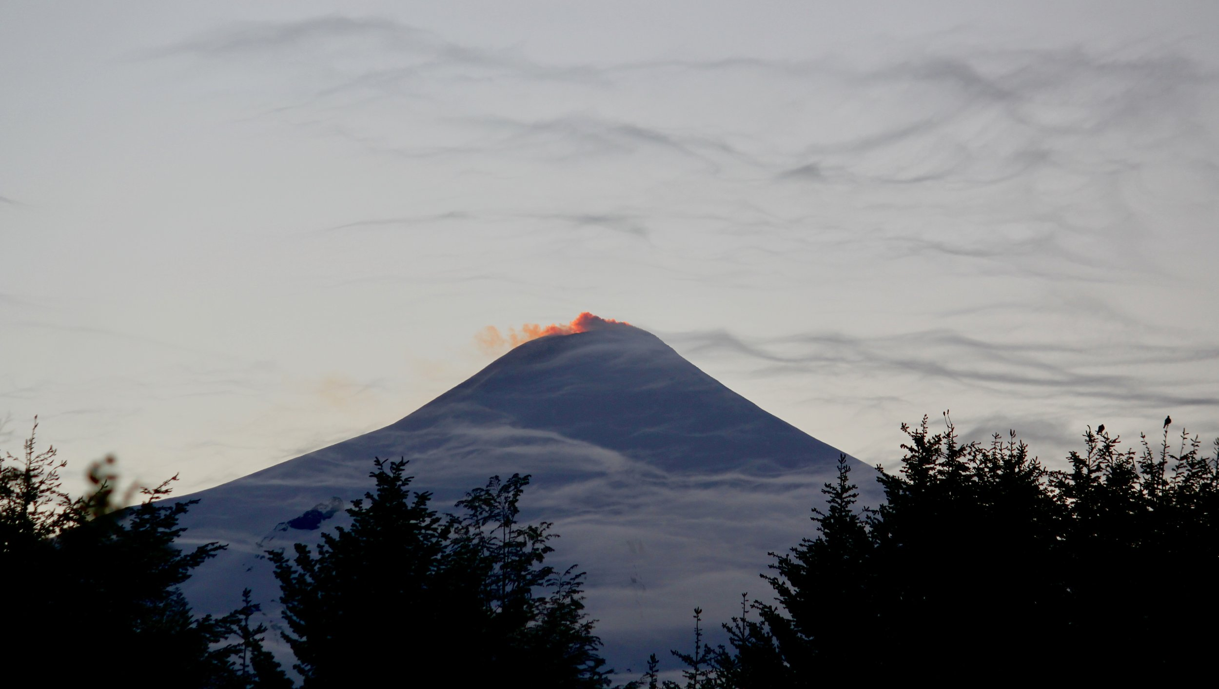 Volcan Villarrica at sunrise