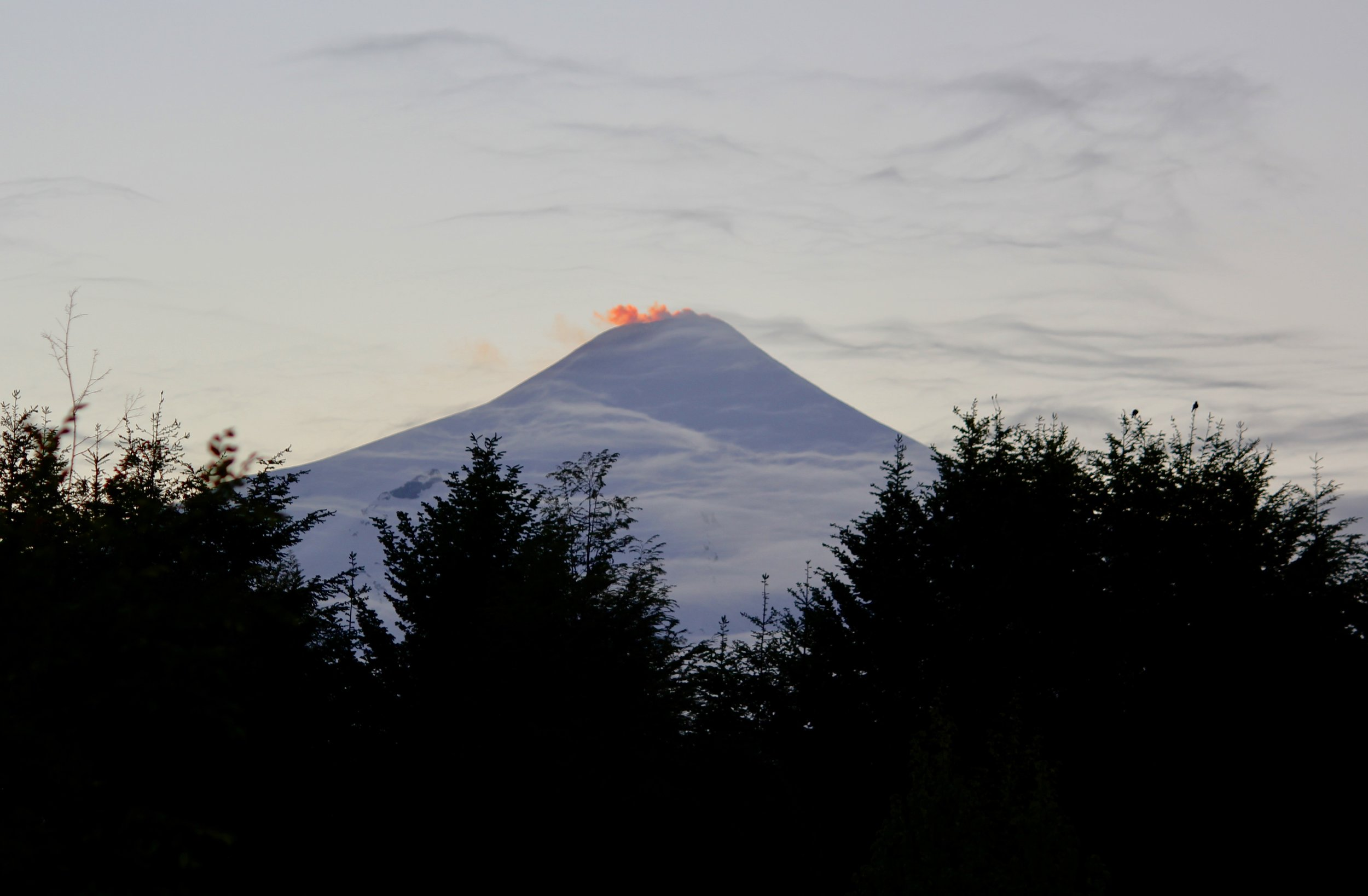- View of Volcan Villarrica from our Airbnb in Pucon