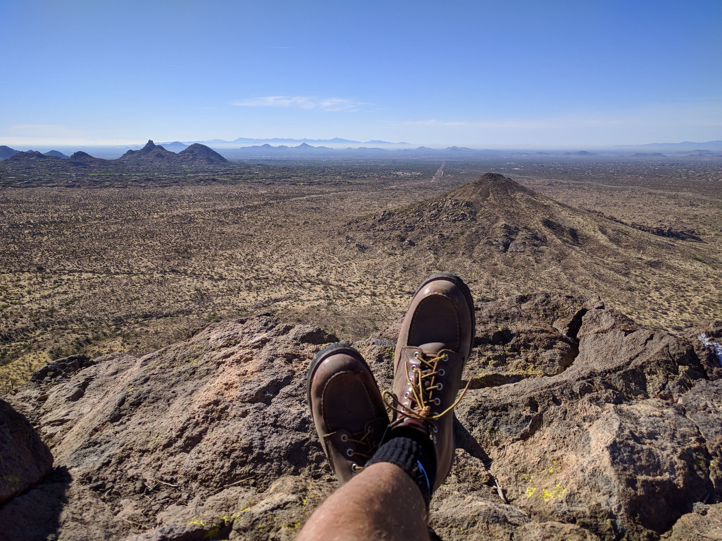 Atop Brown's Mountain, looking at Cone Mountain