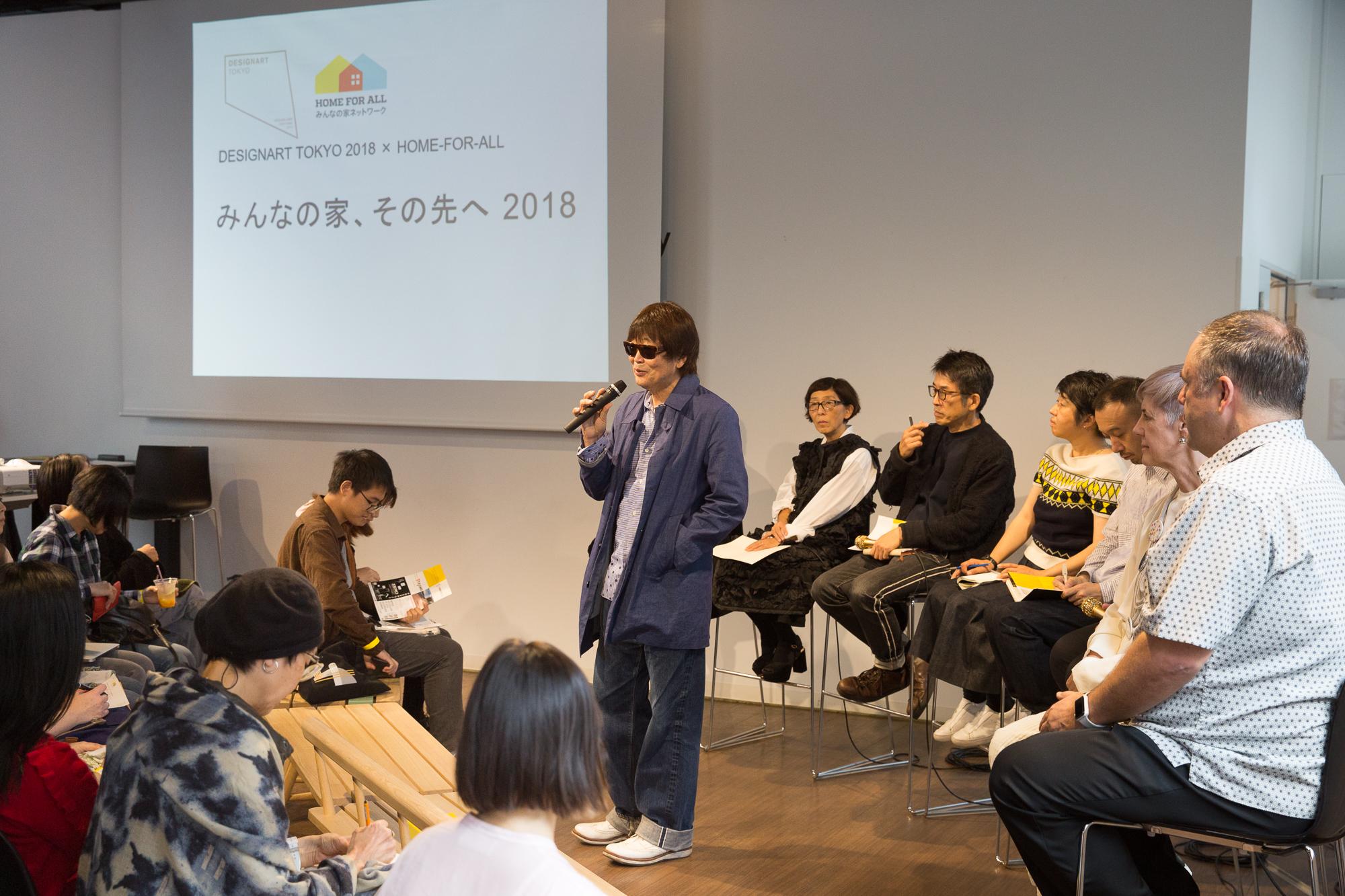 ご挨拶は会場をご提供いただいた黒崎輝男様(NPO法人Farmer's Market Association)よりご挨拶をいただきました。 Teruo Kurosaki from NPO Farmer's Market Association gave a opening speech.