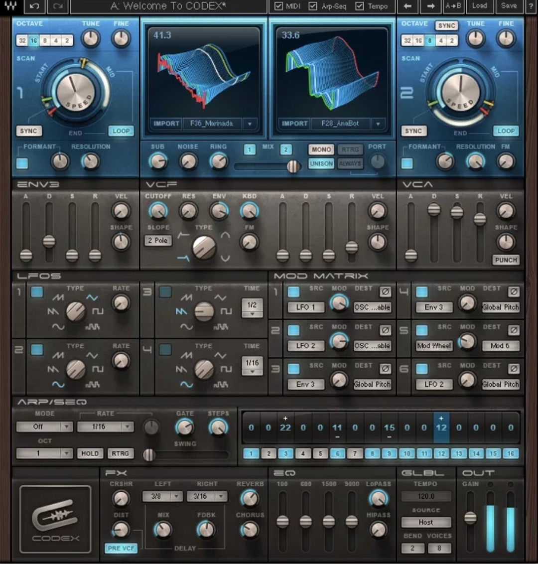 Waves Codex Software Synthesizer