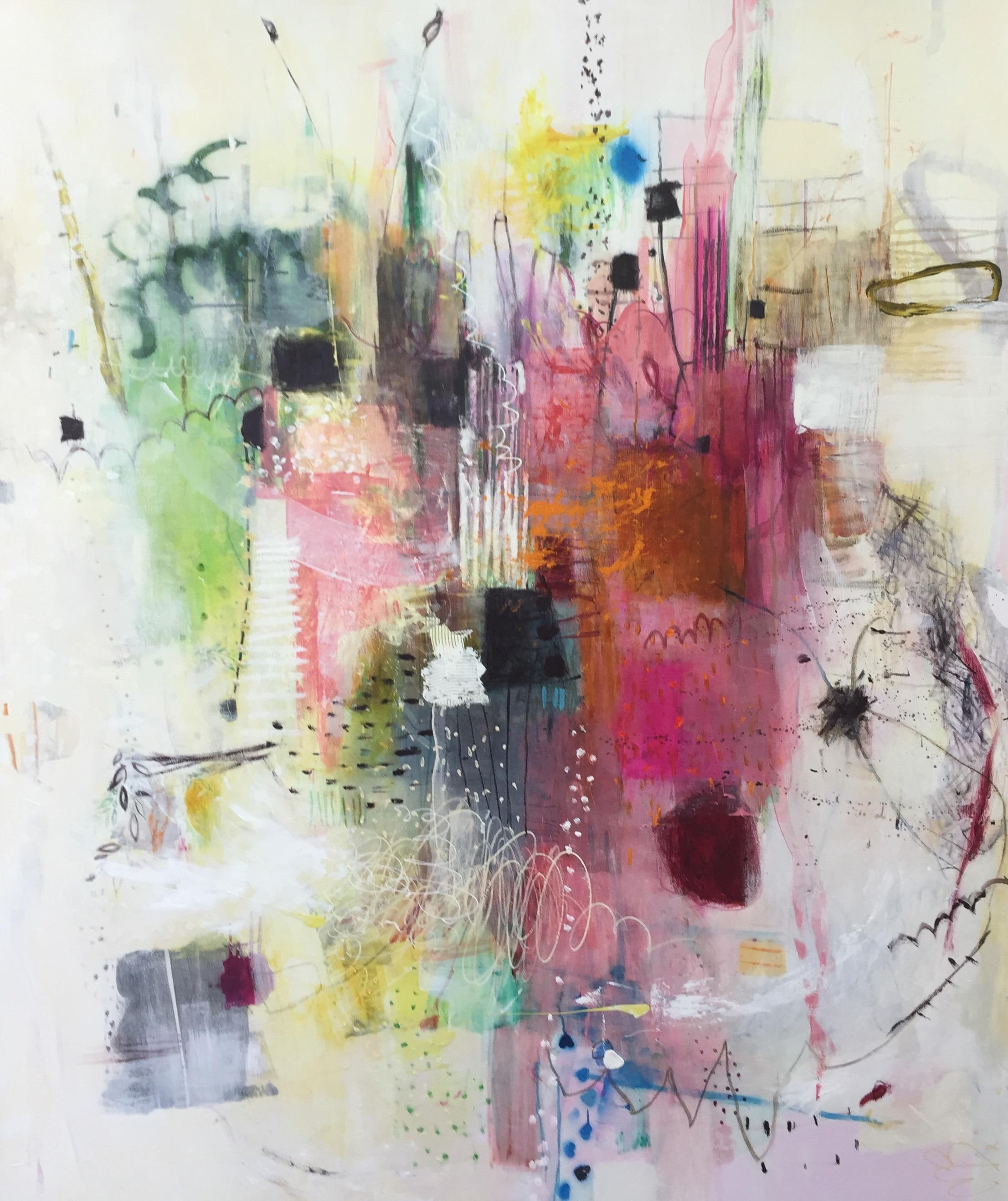 Michelle Breton,  Chez Jeanne , Acrylic on Canvas, 183 x 153cm ,  $12,000