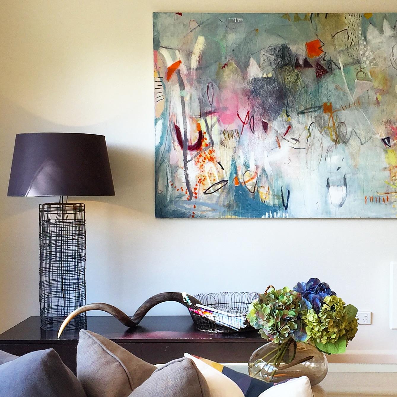 Michelle Breton,  Collioure,  Acrylic on Canvas, 117.5 x 203cm, $12,000