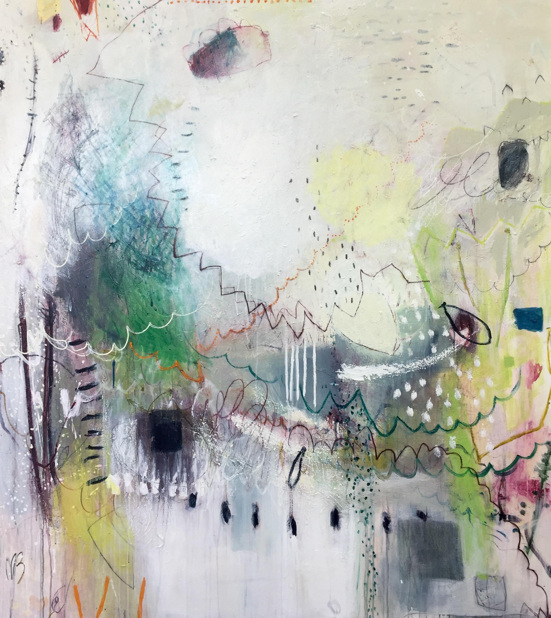 Michelle Breton,  Madame Bouchard Bosquet,  Acrylic on Canvas, 173 x 152cm, $12,000