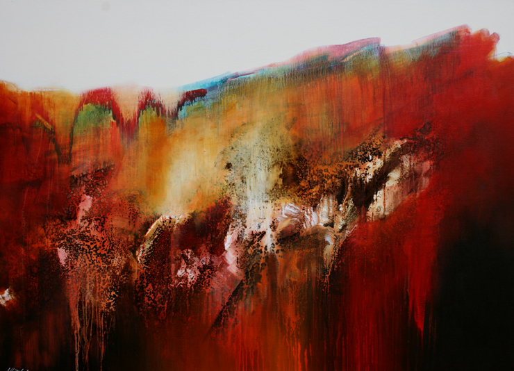 Storm Before The Calm,  Mixed Media on Linen, 130 x 180cm, P.O.A