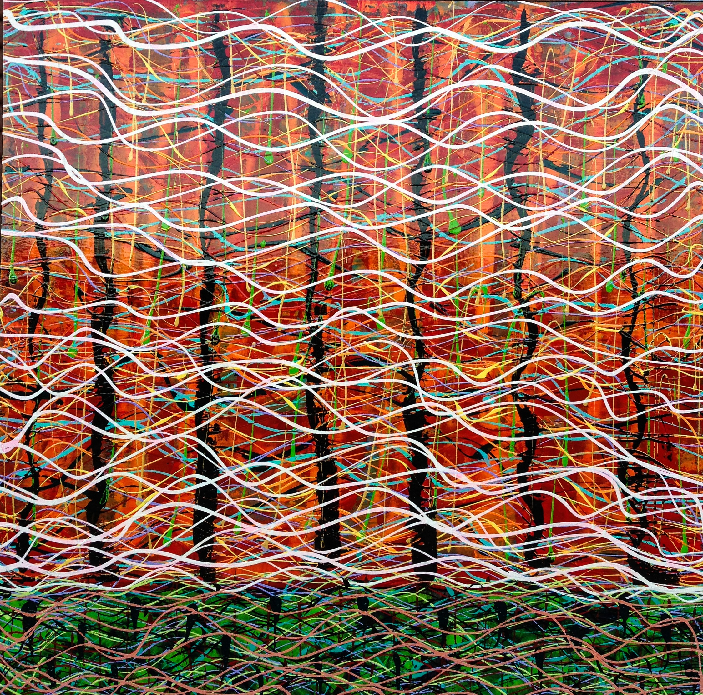 Thierry B,  Need To Know Now , Synthetic Polymer Paint on Linen, 183 x 183cm, P.O.A