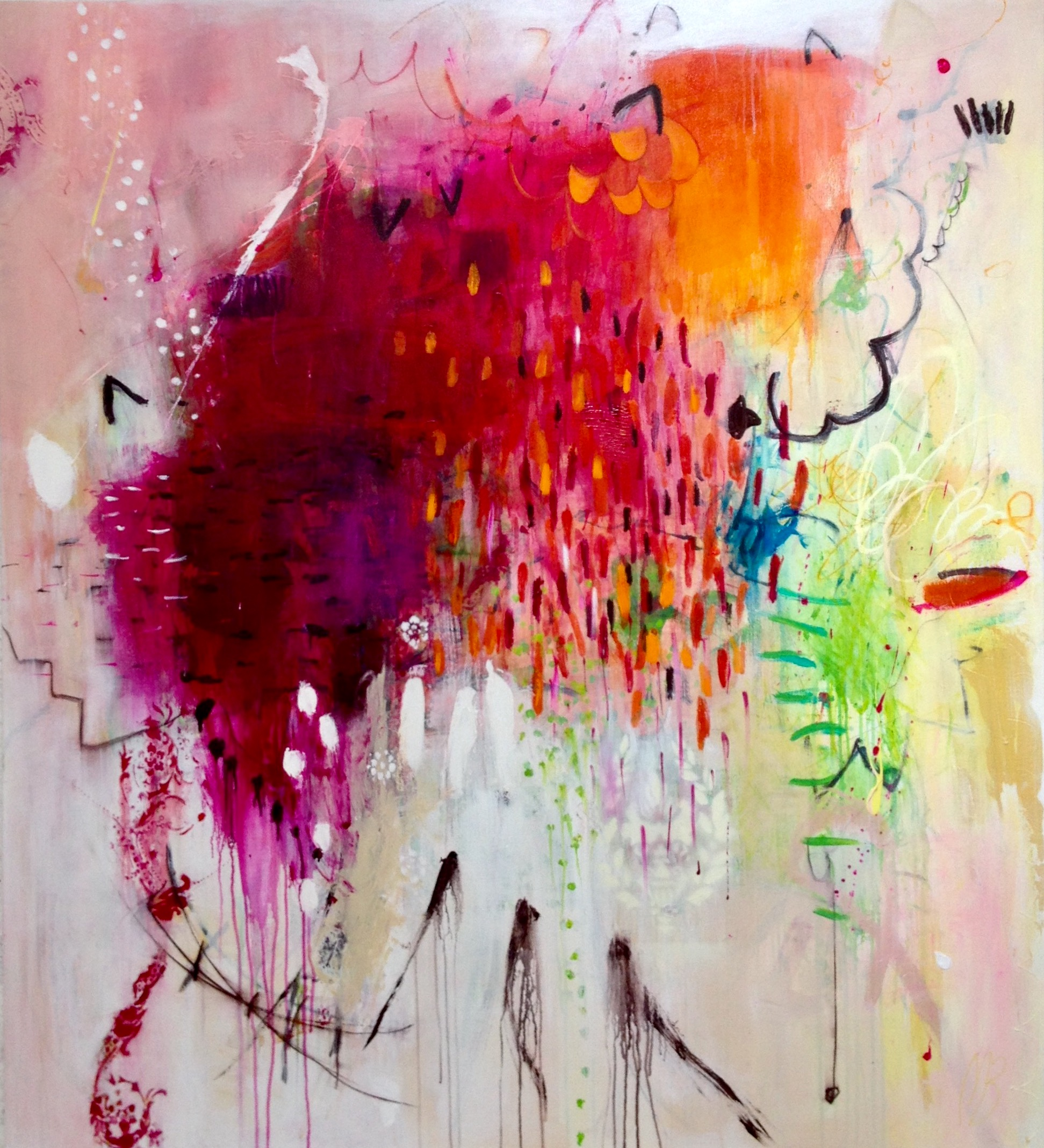 Apres Midi D'uns Founa , Mixed Media on Italian Canvas, 152 x 137cm.