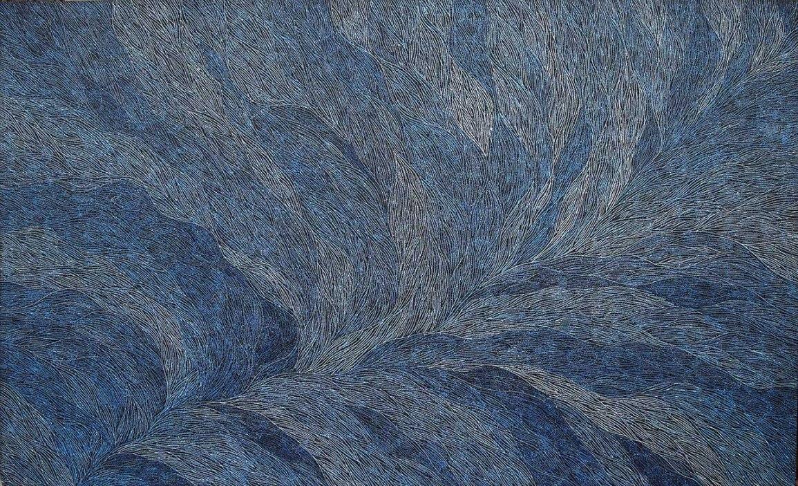 Sarrita King, Water, Jap-008727, Acrylic on Linen, 230 x 140 cm.