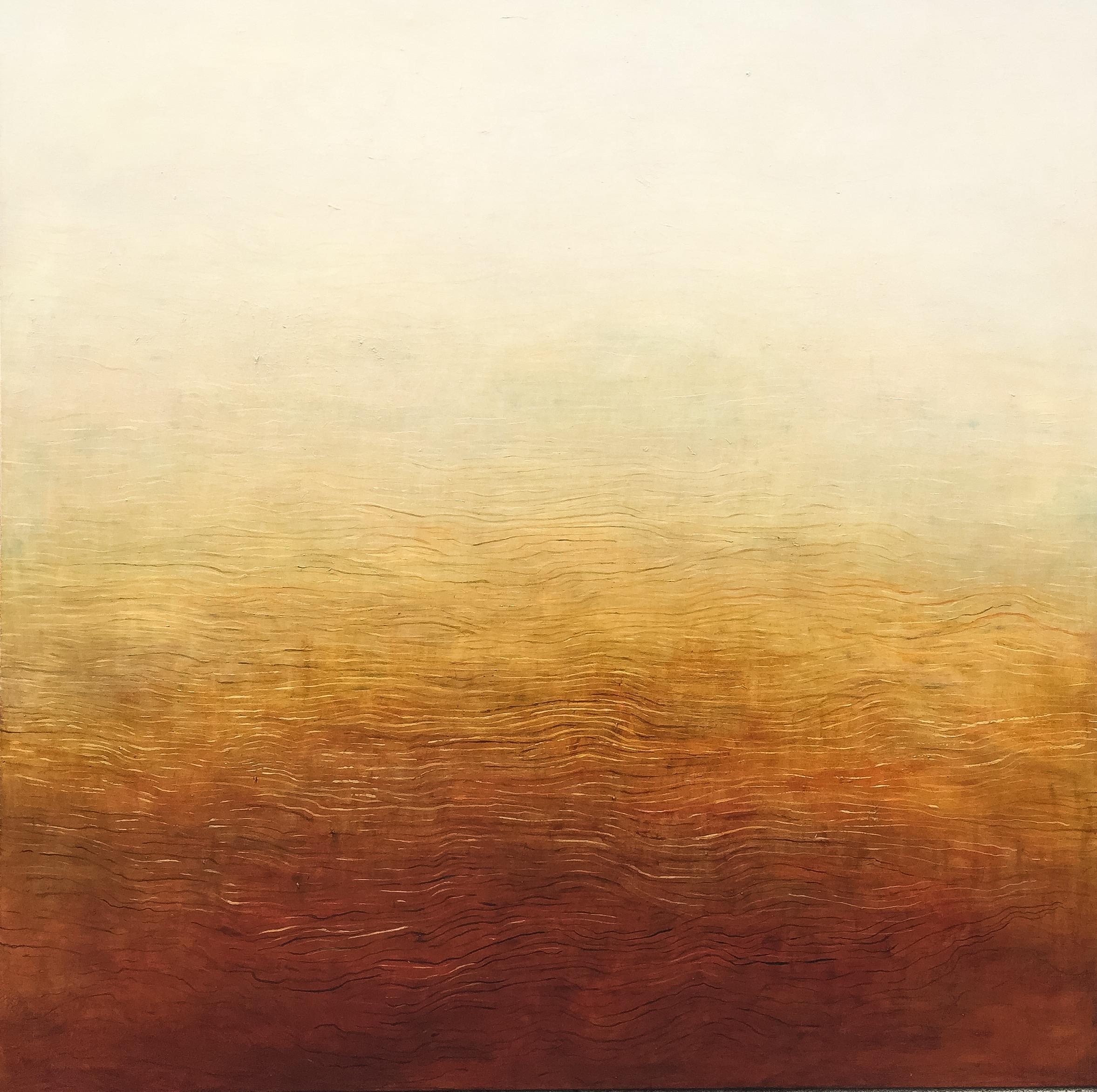 Above: Patricia Heaslip,  Landlines,  Oil on Canvas, 183 x 183cm, P.O.A