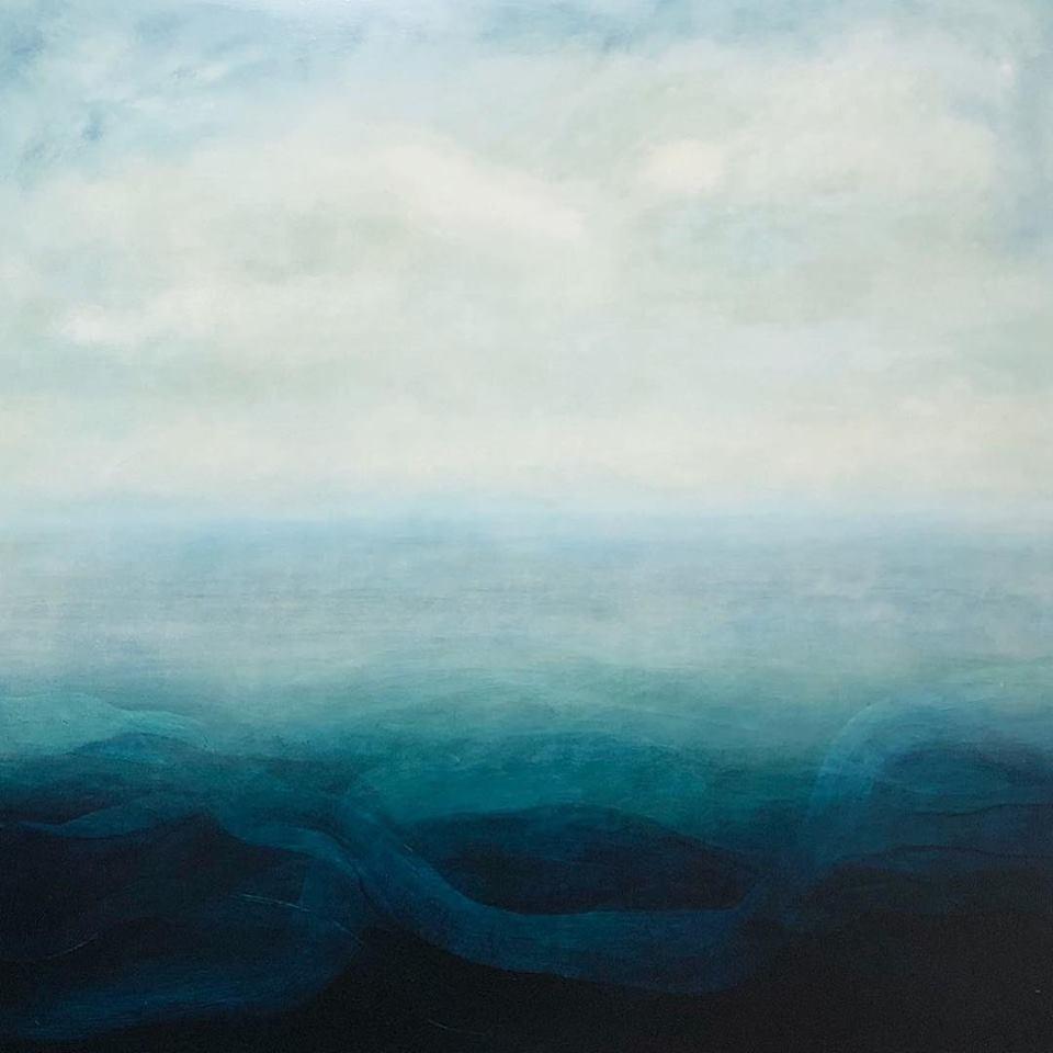 Above: Patricia Heaslip,  Undercurrent , 2018, Oil on Board, 137 x 137cm, P.O.A