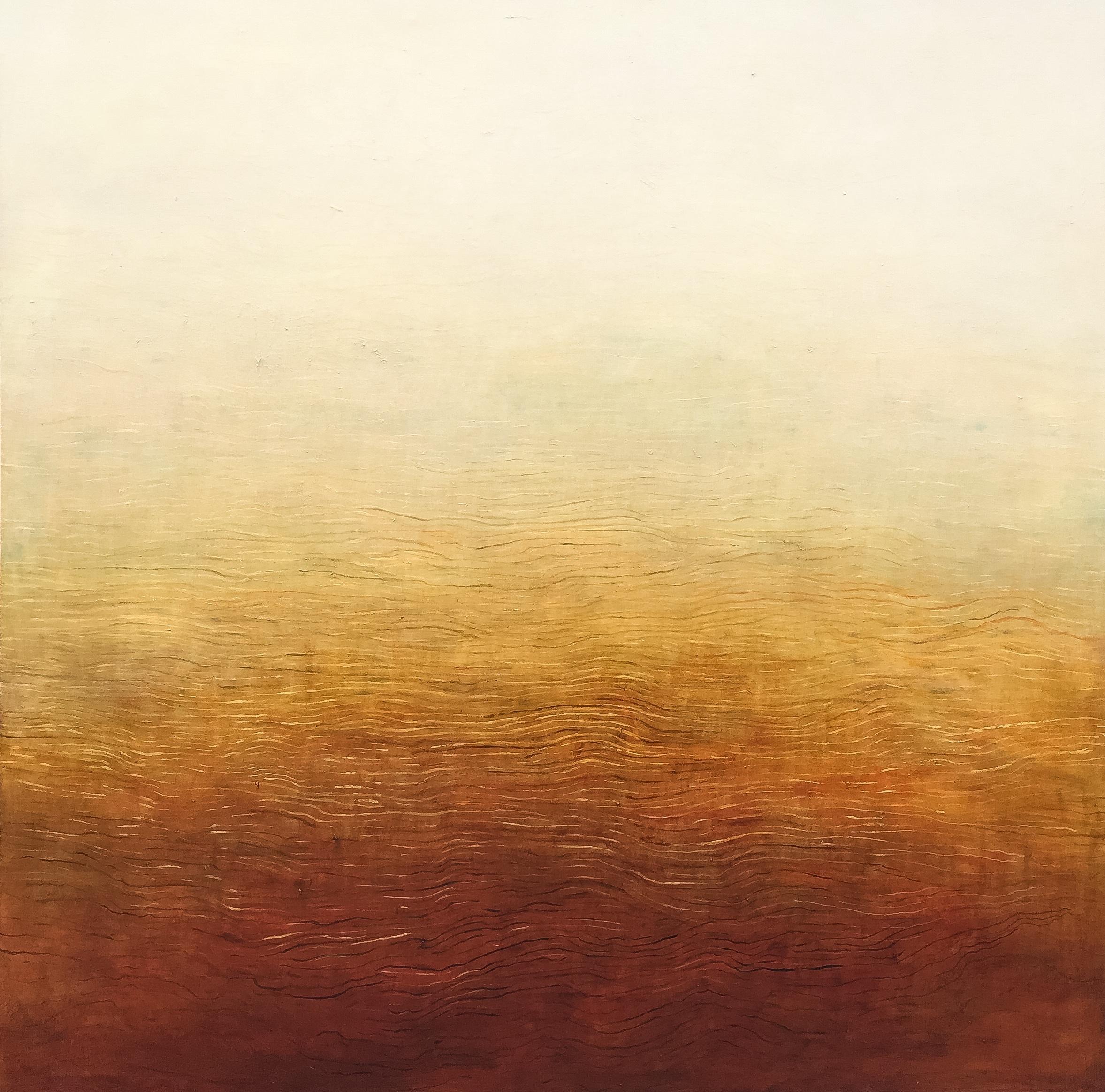 Above: Patricia Heaslip,  Landlines , 2015, Oil on Linen, 183 x 183cm, $15,000