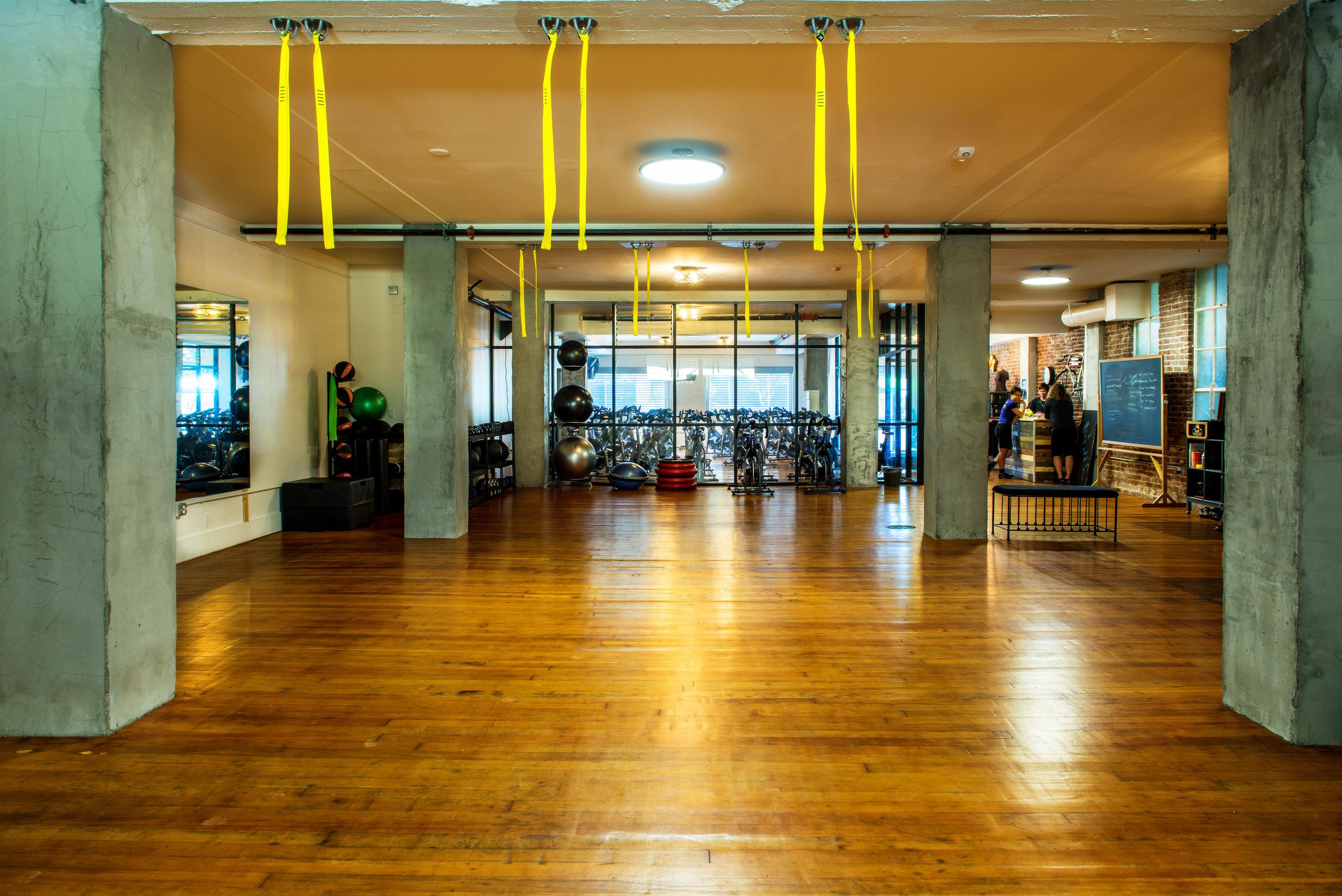 The TRx and strength training gym