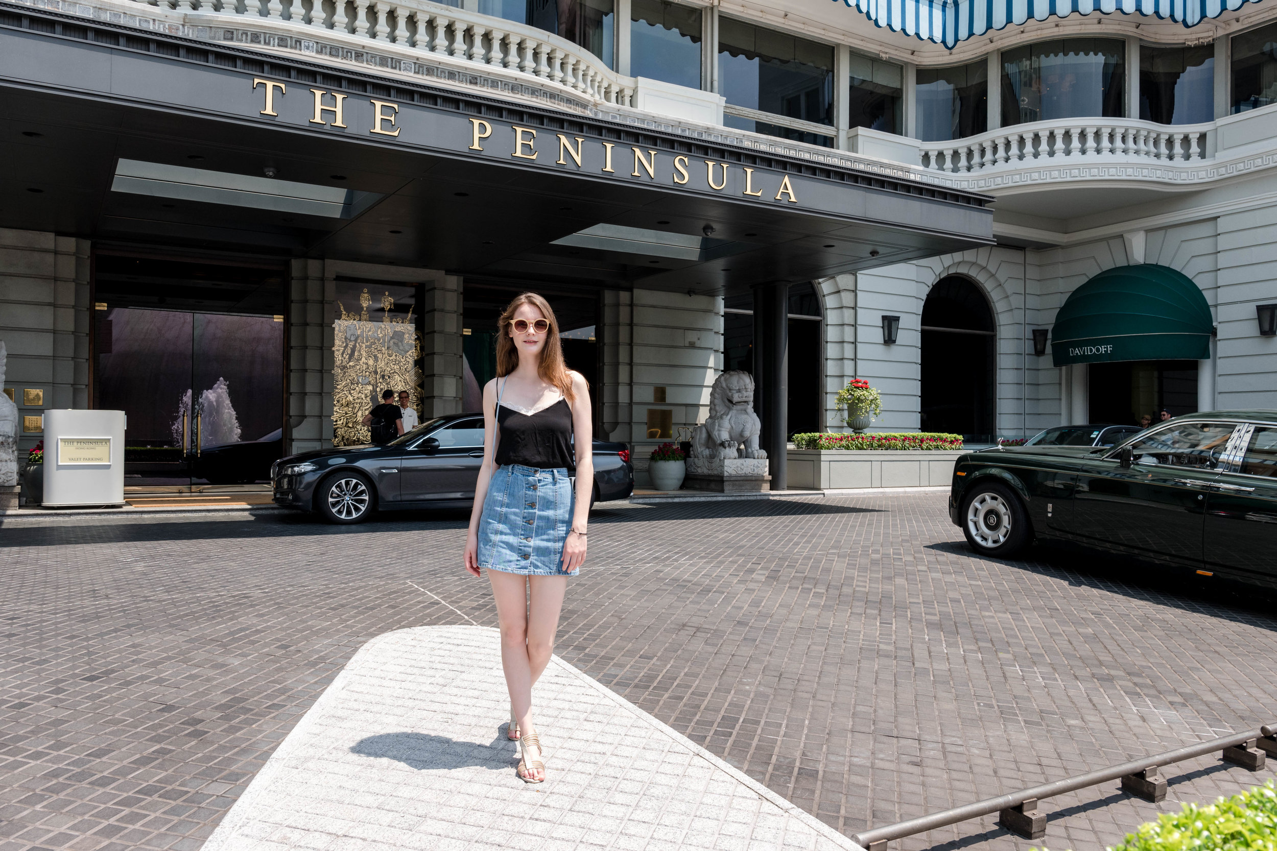 Outside the Peninsula Hotel.