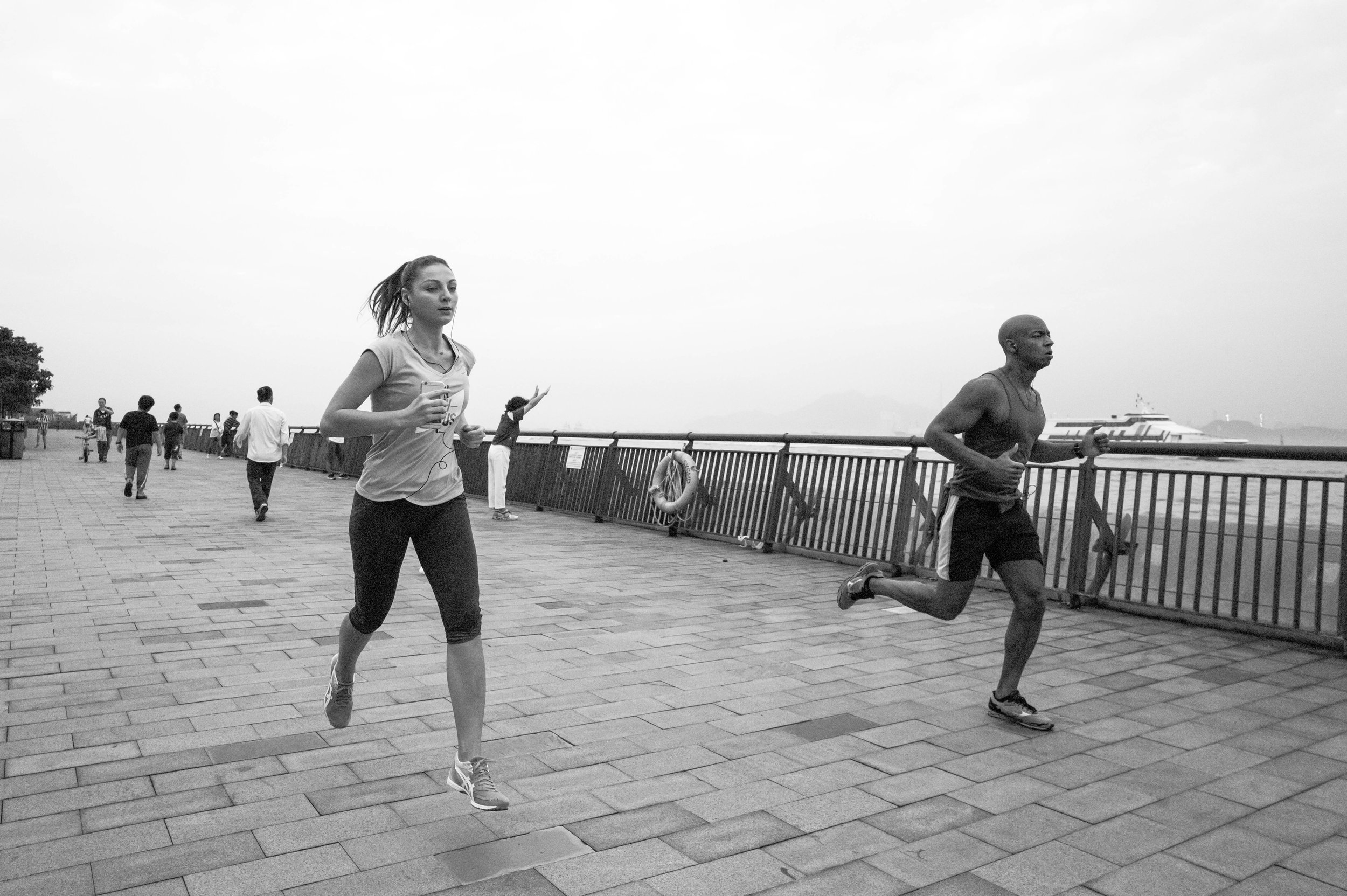 I really thought that this image was going to be liked. Shot at 21mm, and relatively close, at high shutter speed, I was able to freeze both runners in motion, without an overly distracting background. Still, this post only got 8 likes. I have since deleted it.