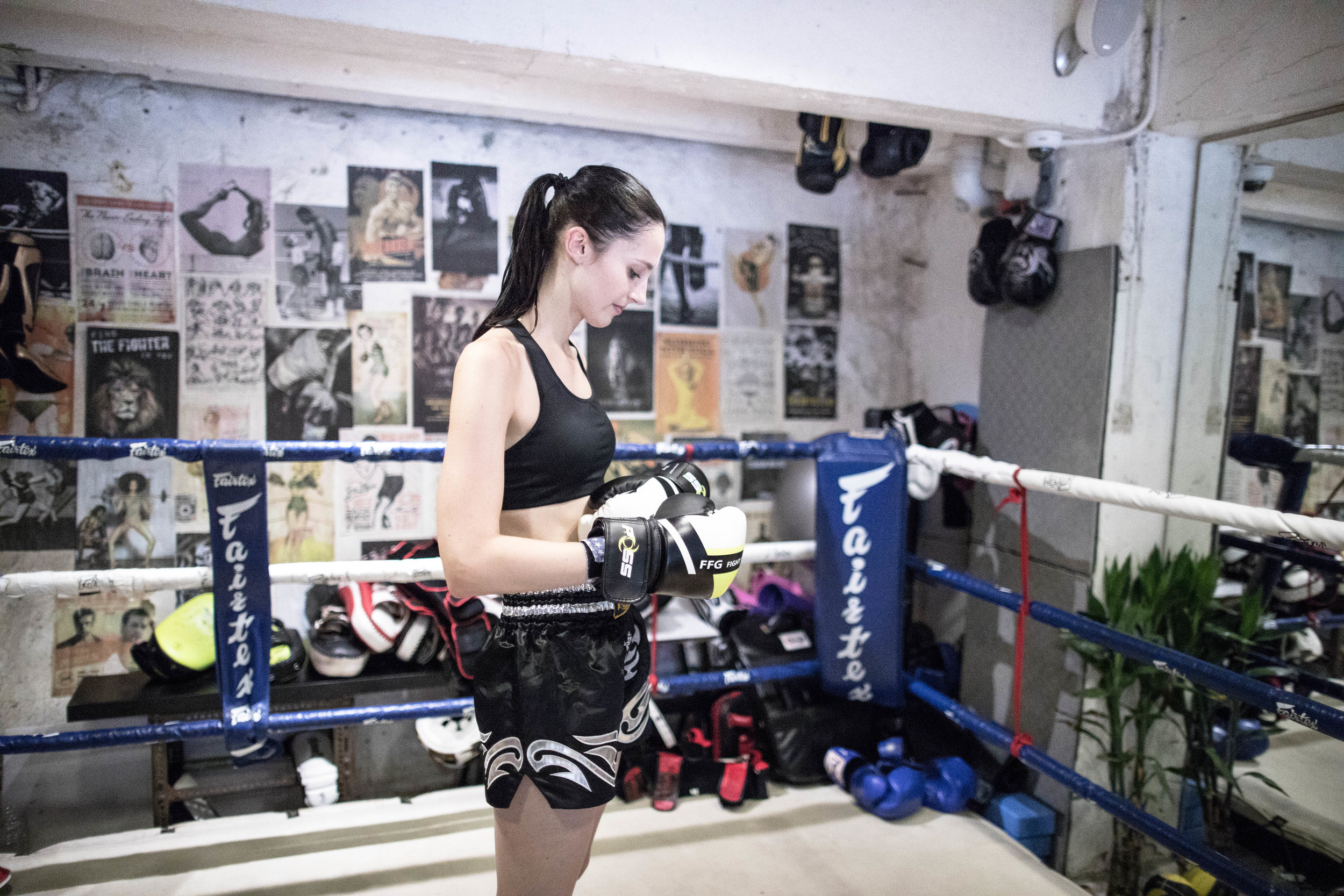The gloves are on. In the ring. Canon 24mm f/1.4L. Canon 6, Leica 7, Nikon 2.