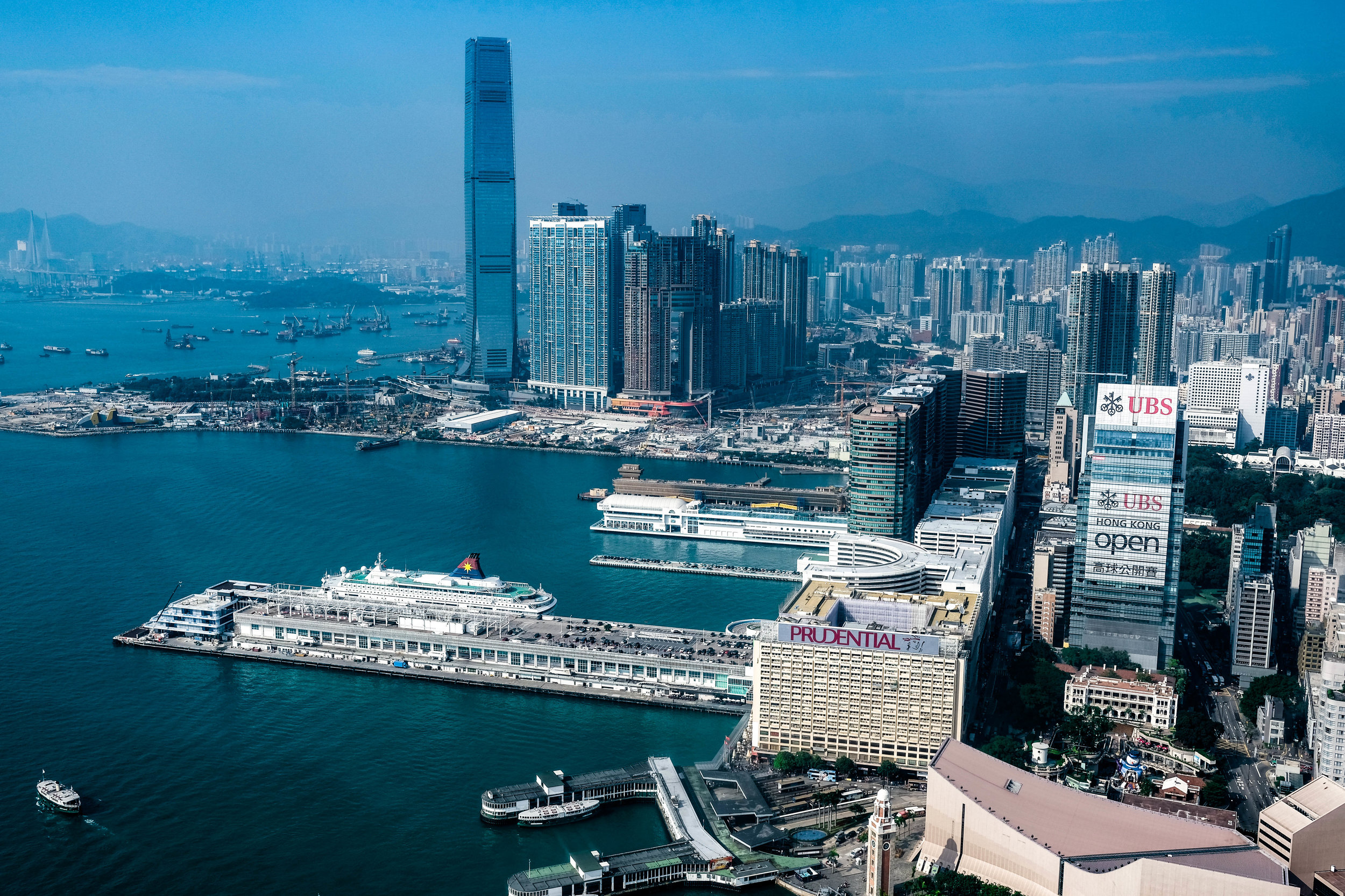 A view from the South East corner of Kowloon, on the mainland.