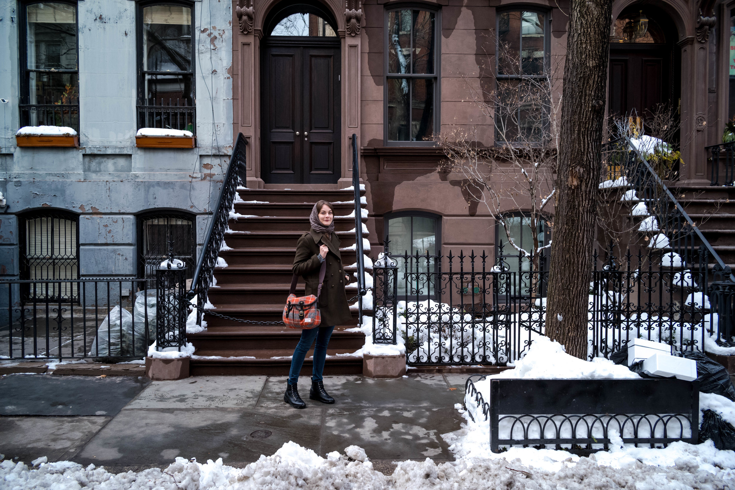 "Outside the apartment of the fictional character, Carrie Bradshaw, of the formerly popular television series ""Sex and the City"""