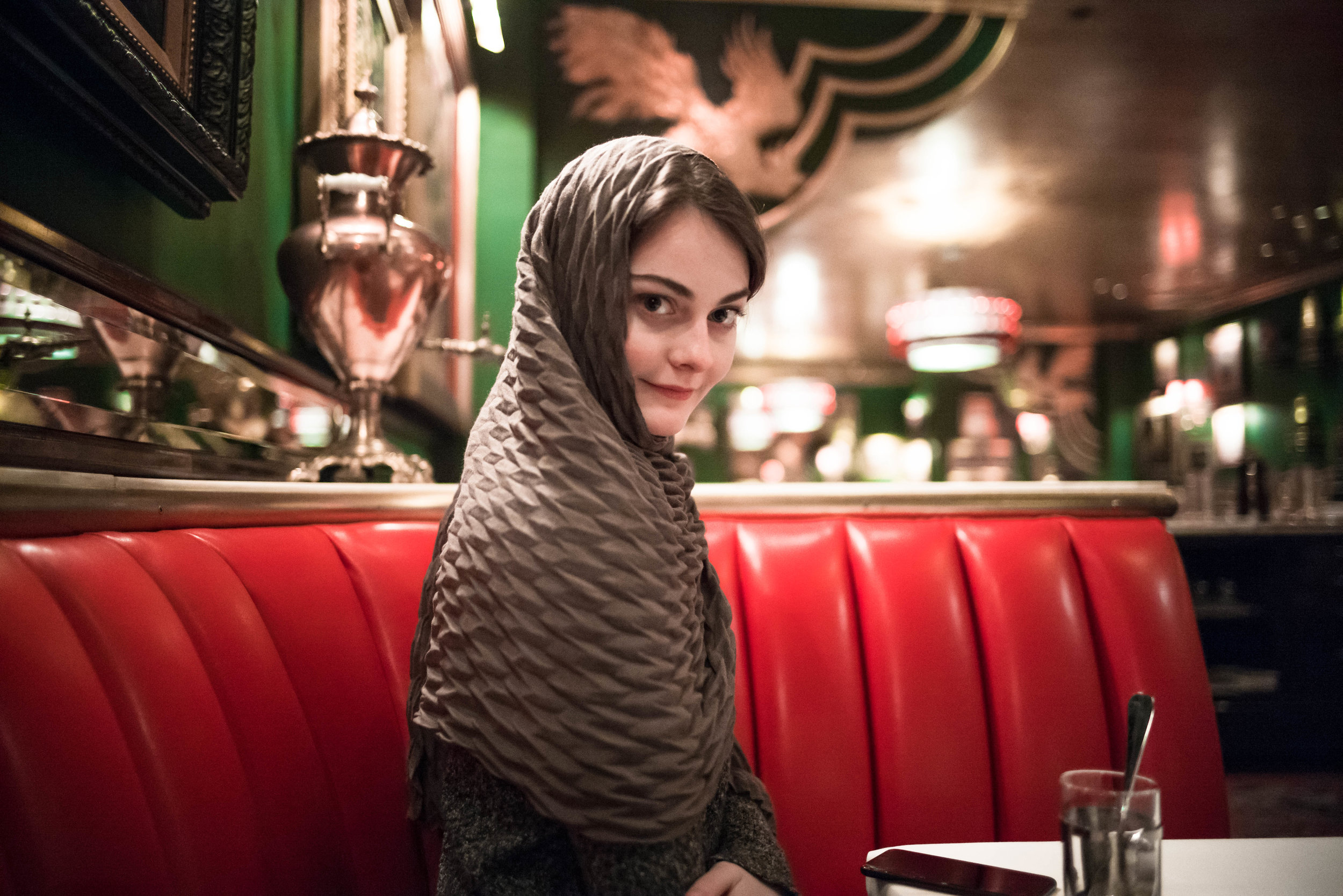 Leica M10 + Leica 28mm f/1.4 Summilux - Doing her best impression of Bolshevik Chic at the Russian Tea Room