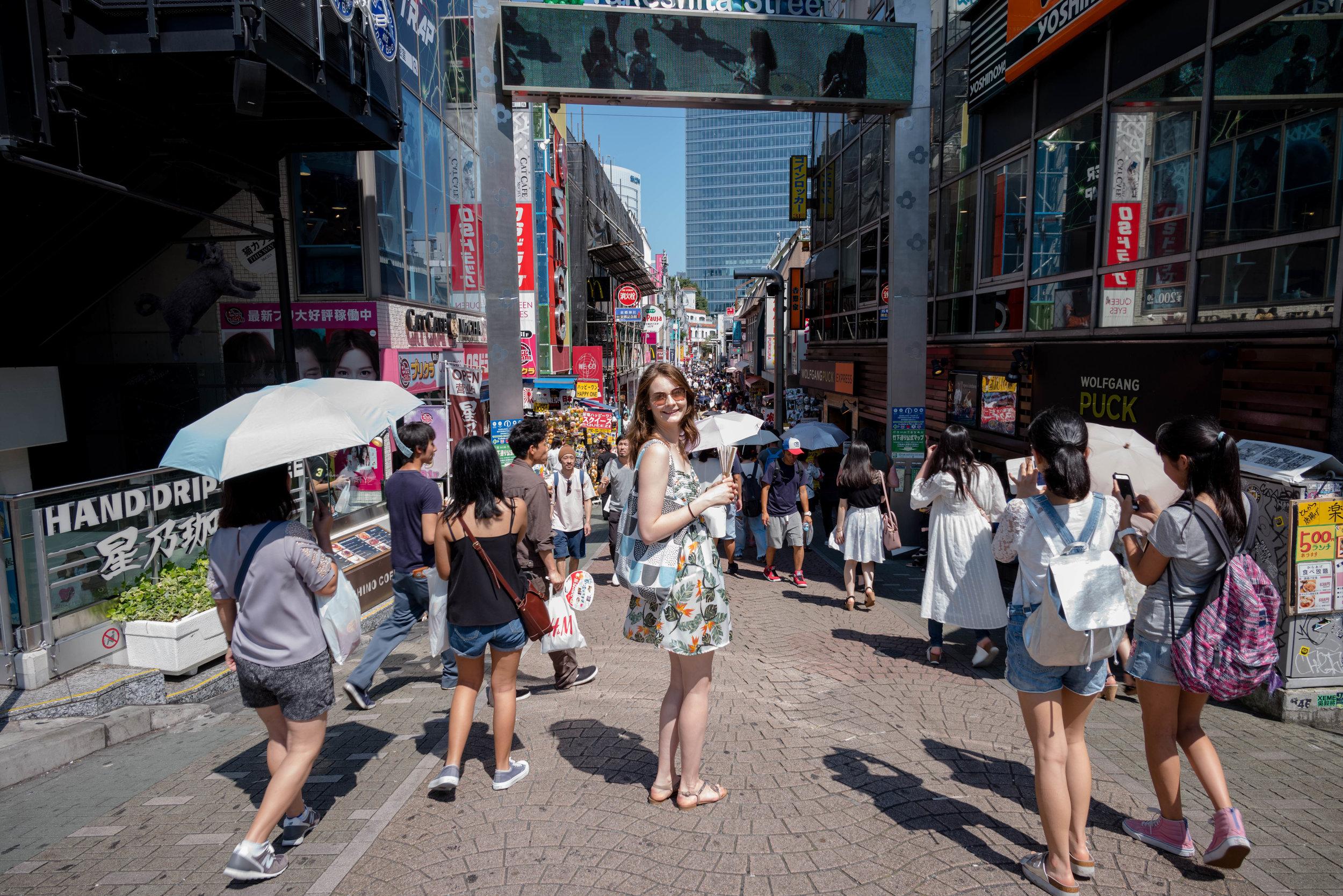 Cropped image set - Takeshita Street at Harajuku.