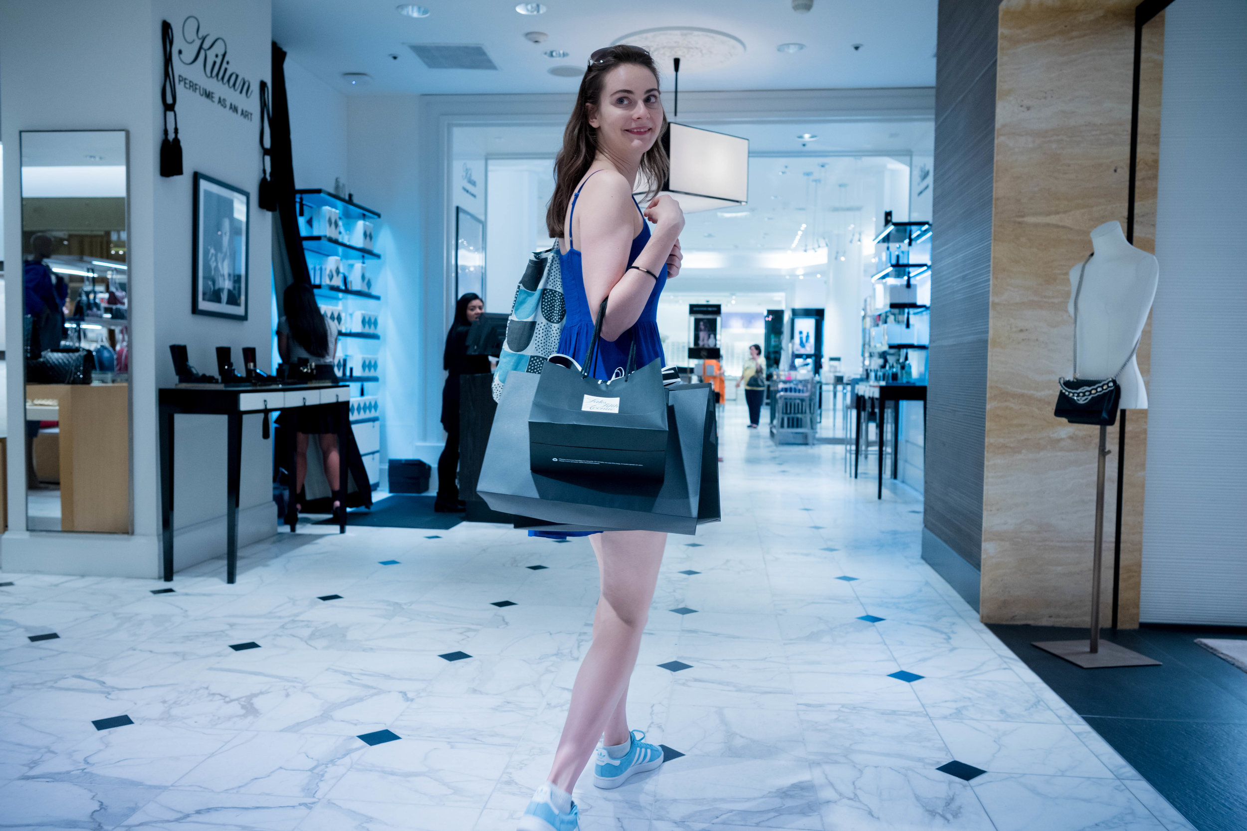 The next morning at Saks Fifth Avenue on Wilshire. Anna's wardrobe needed updating to a more typical Los Angeles look for the week. Leica 28mm f/1.4 Summilux ASPH