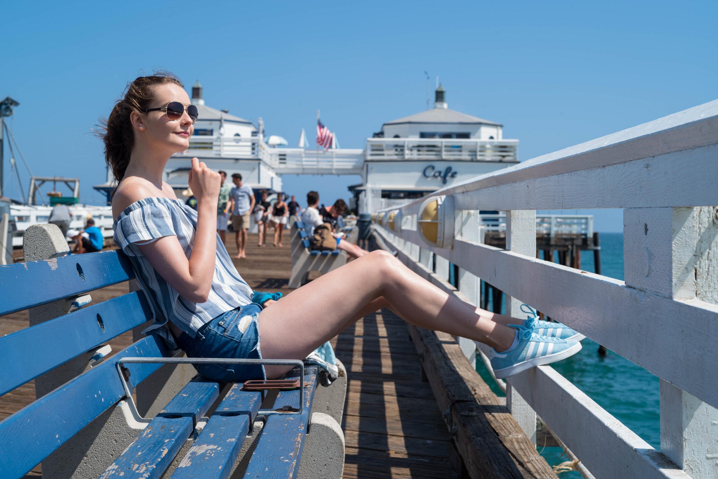 On a park bench, at Malibu Pier. Leica APO 50mm f/2 Summicron ASPH